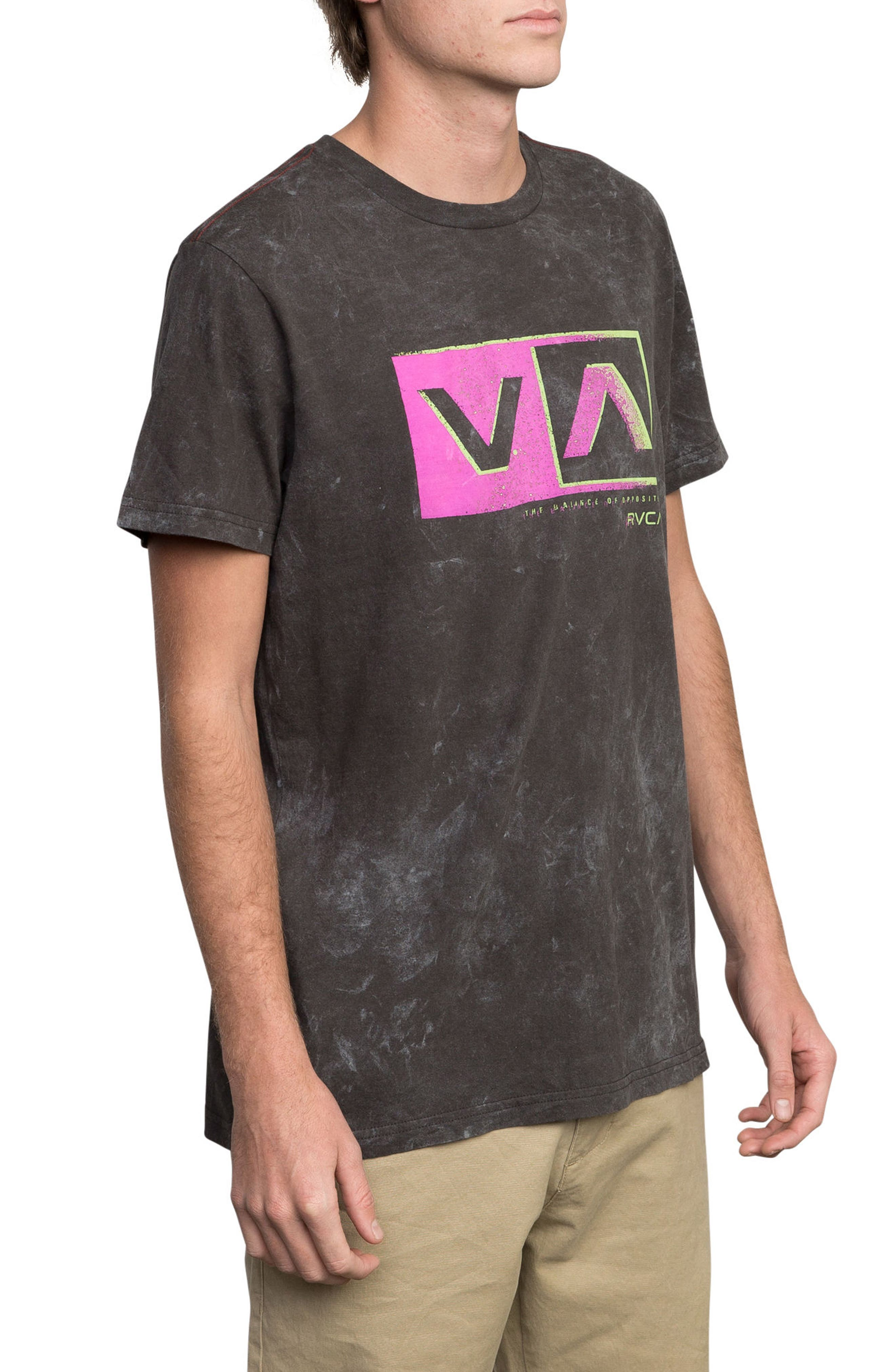 Static Box Graphic T-Shirt,                             Alternate thumbnail 3, color,                             Pirate Black