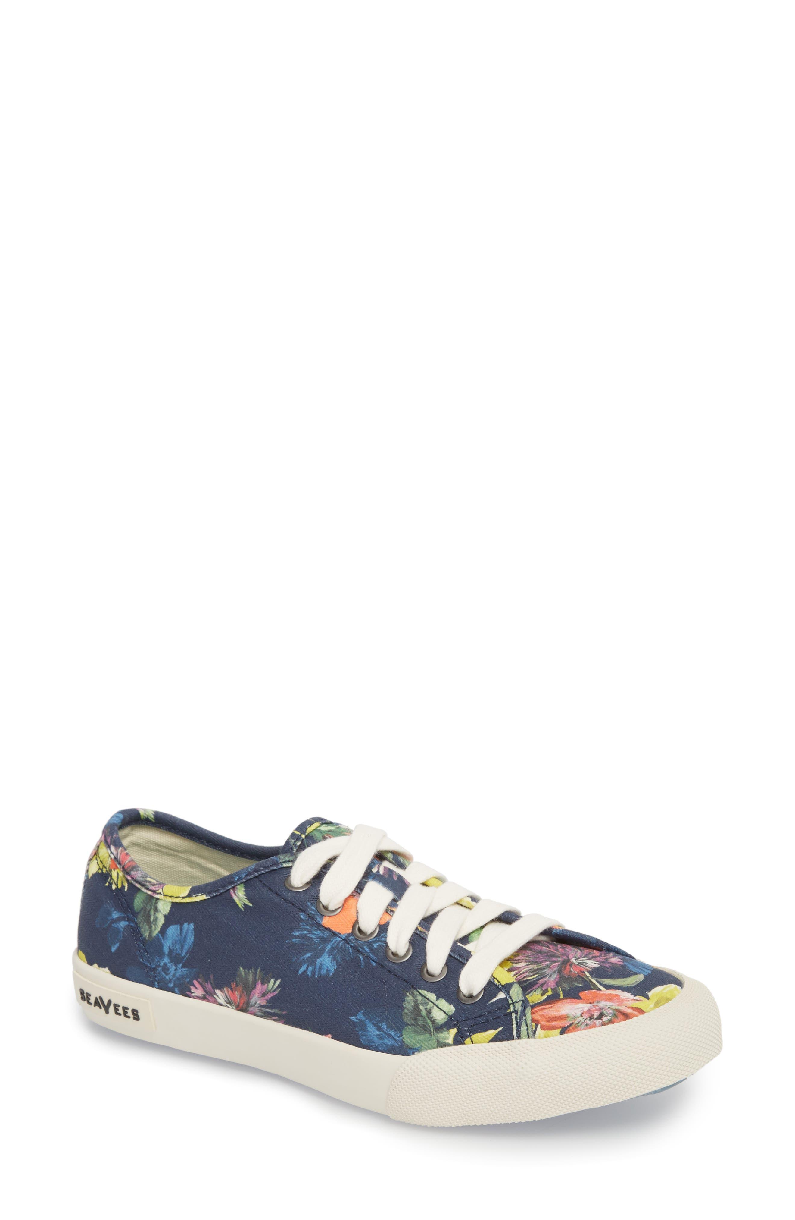 x Trina Turk Monterey Sneaker,                         Main,                         color, Navy Chrysanthemum