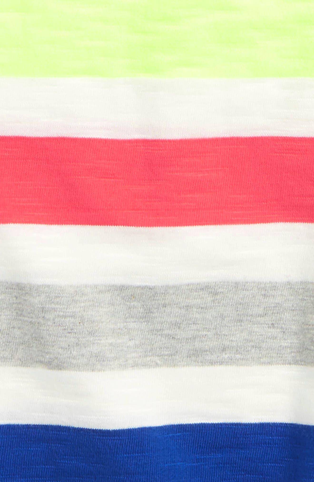 Rainbow Jersey Polo,                             Alternate thumbnail 2, color,                             Ivory Rainbow
