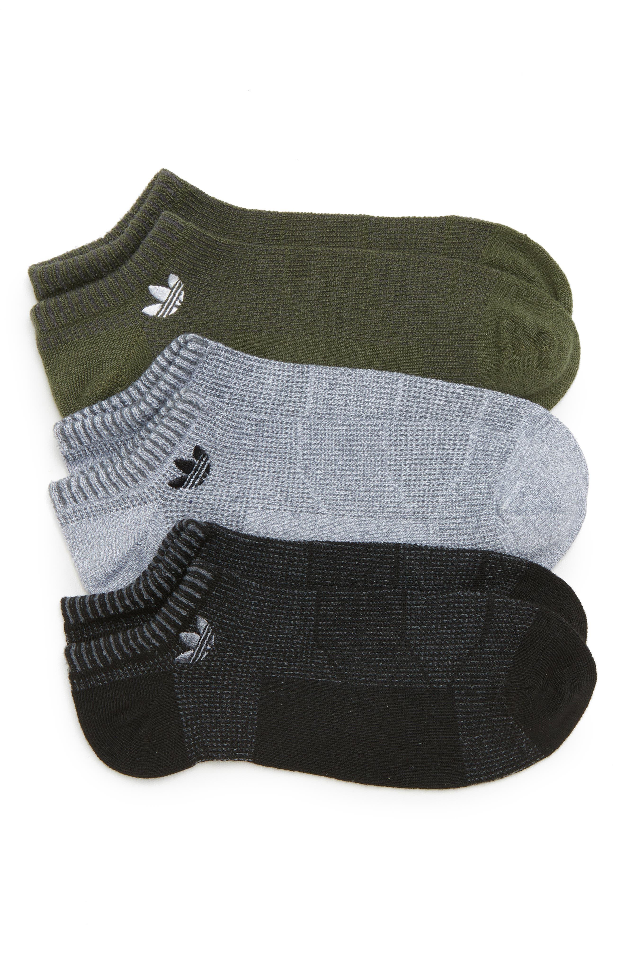adidas Originals Prime Mesh II Assorted 3-Pack No-Show Socks