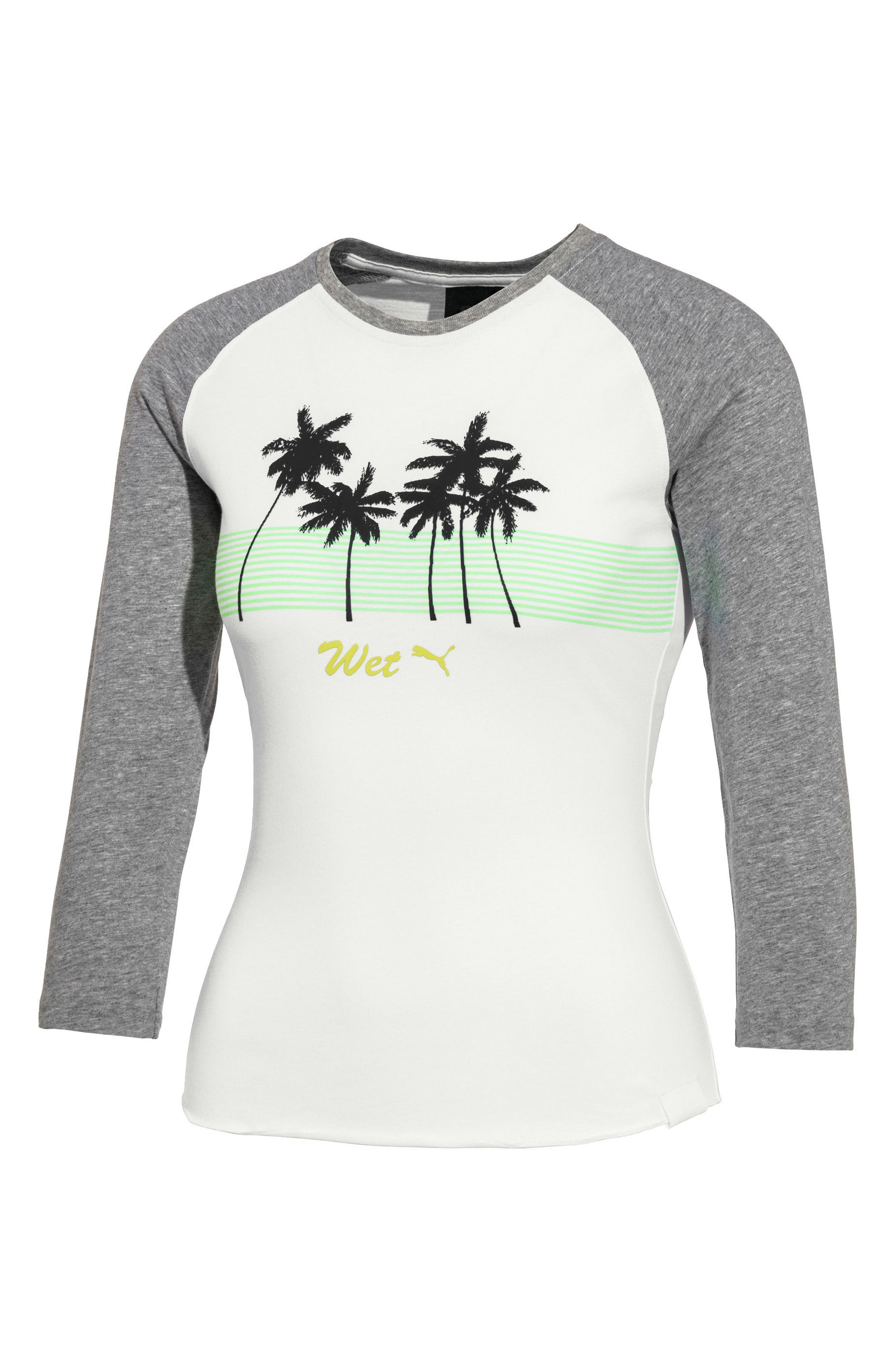 PUMA by Rihanna Raglan Sleeve Graphic Tee,                         Main,                         color, Bright White