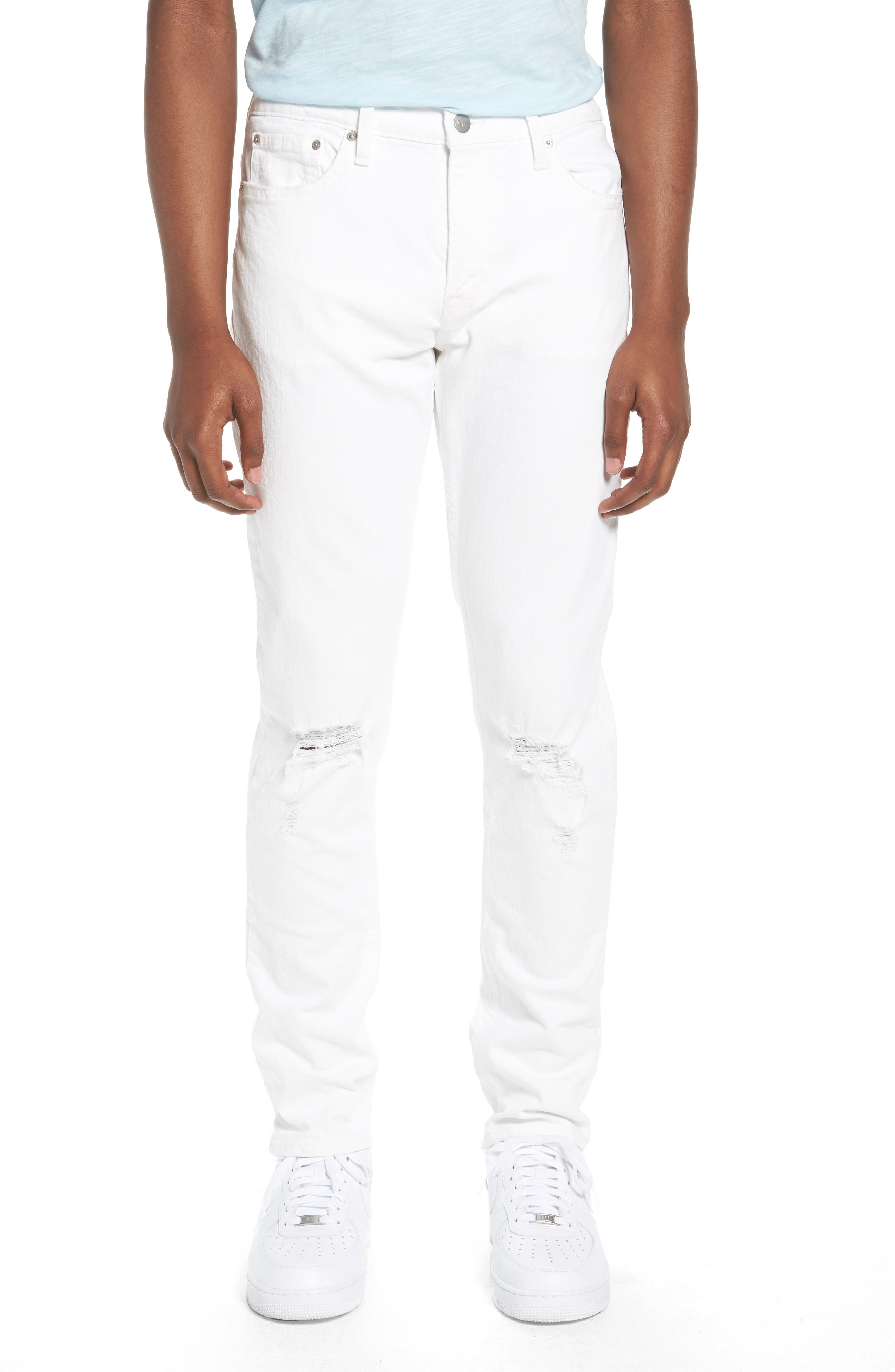 Skinny Jeans,                         Main,                         color, Door White Destruct