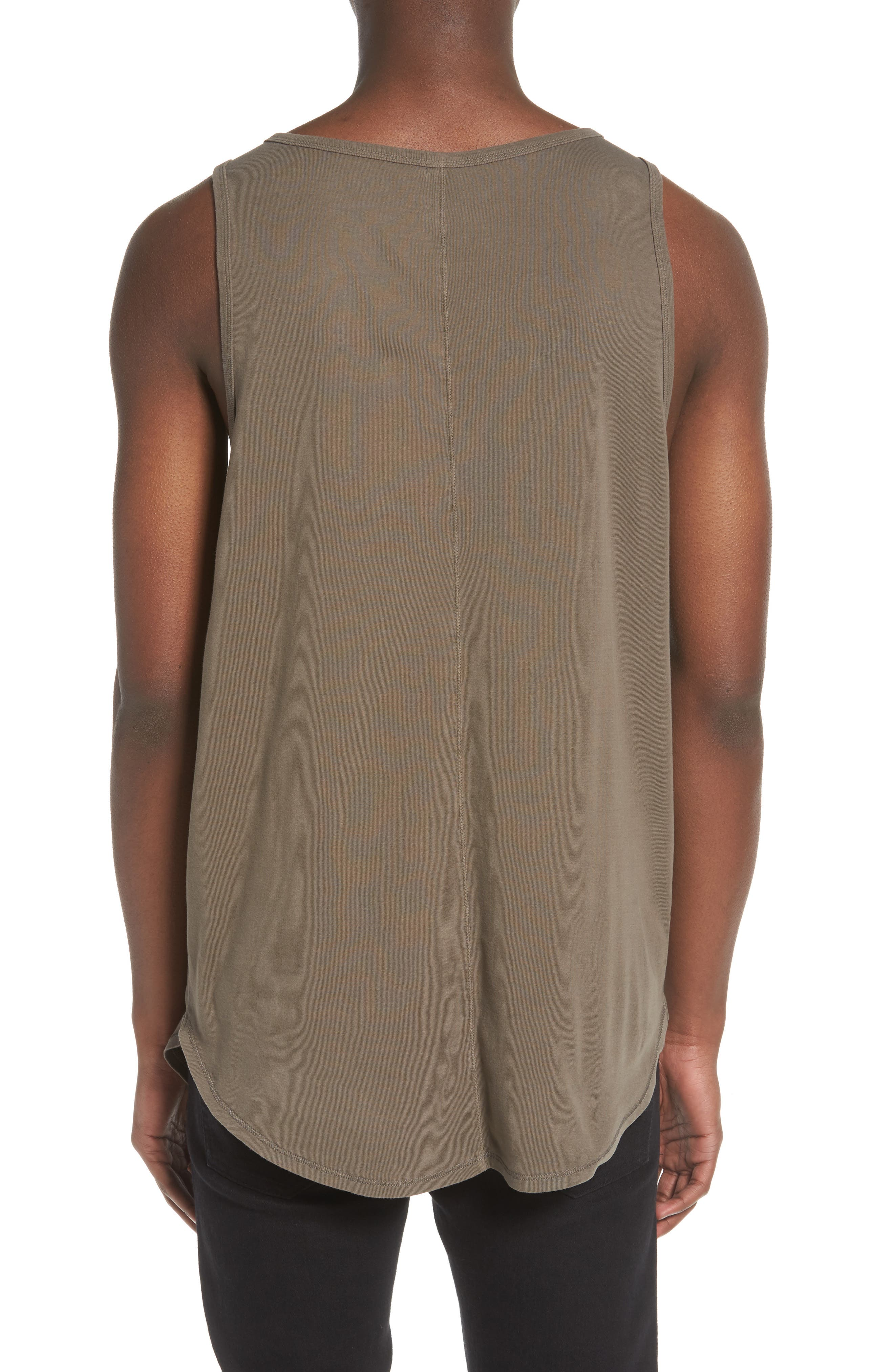 Longline Tank,                             Alternate thumbnail 2, color,                             Olive Brown