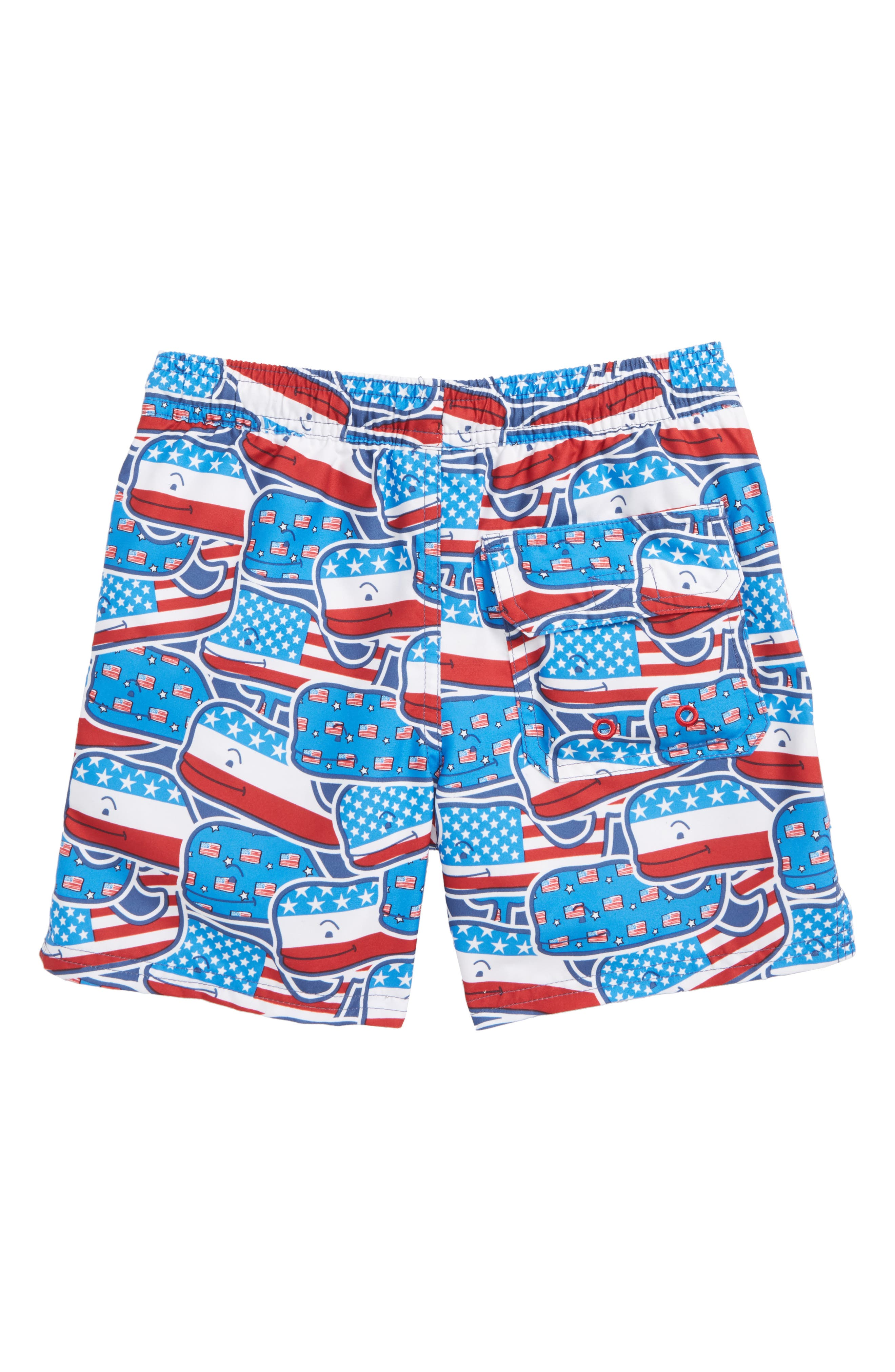 Chappy Whaley USA Swim Trunks,                             Alternate thumbnail 3, color,                             Moonshine
