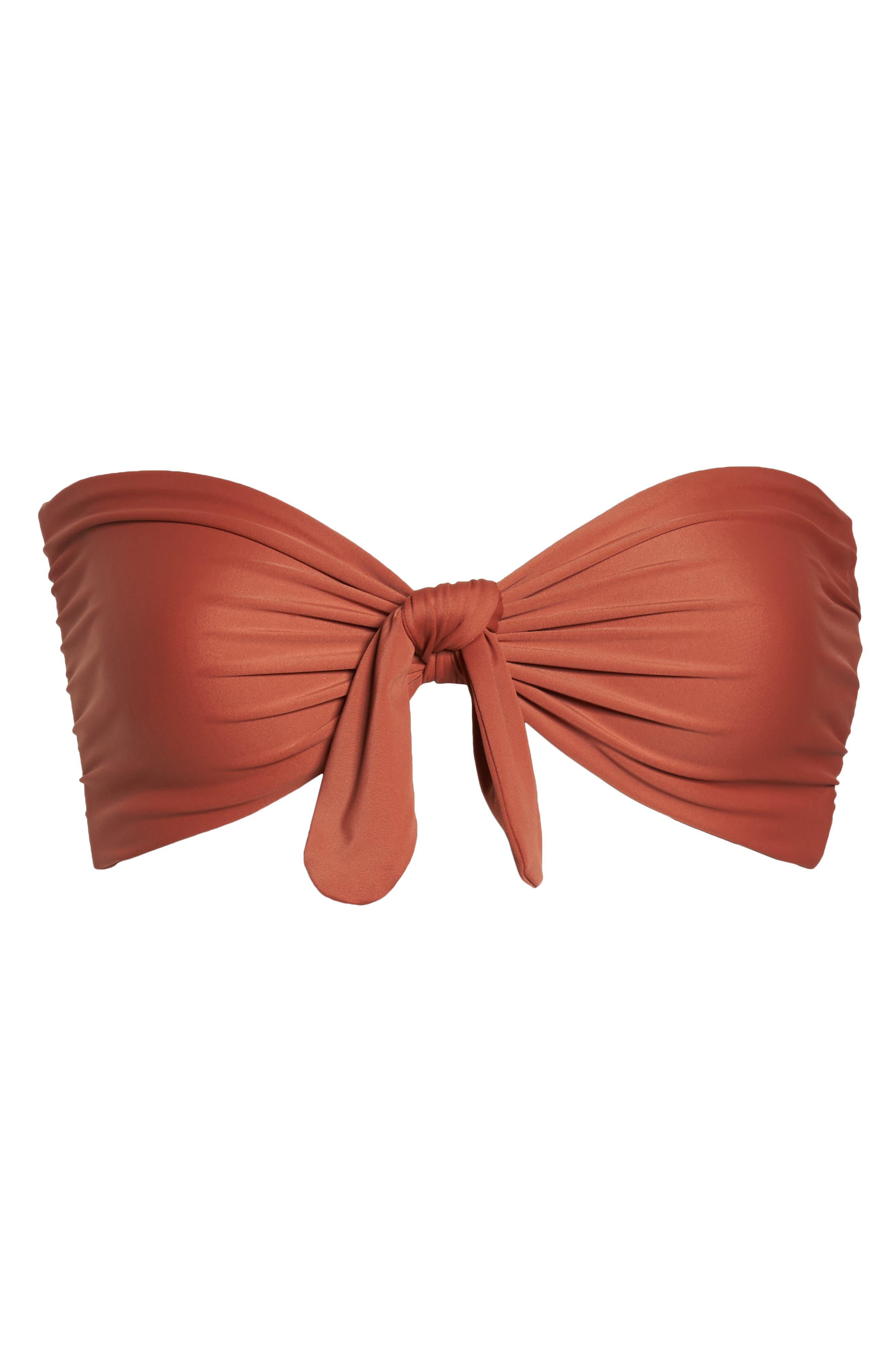 Fairfax Bandeau Bikini Top,                             Alternate thumbnail 9, color,                             Copper