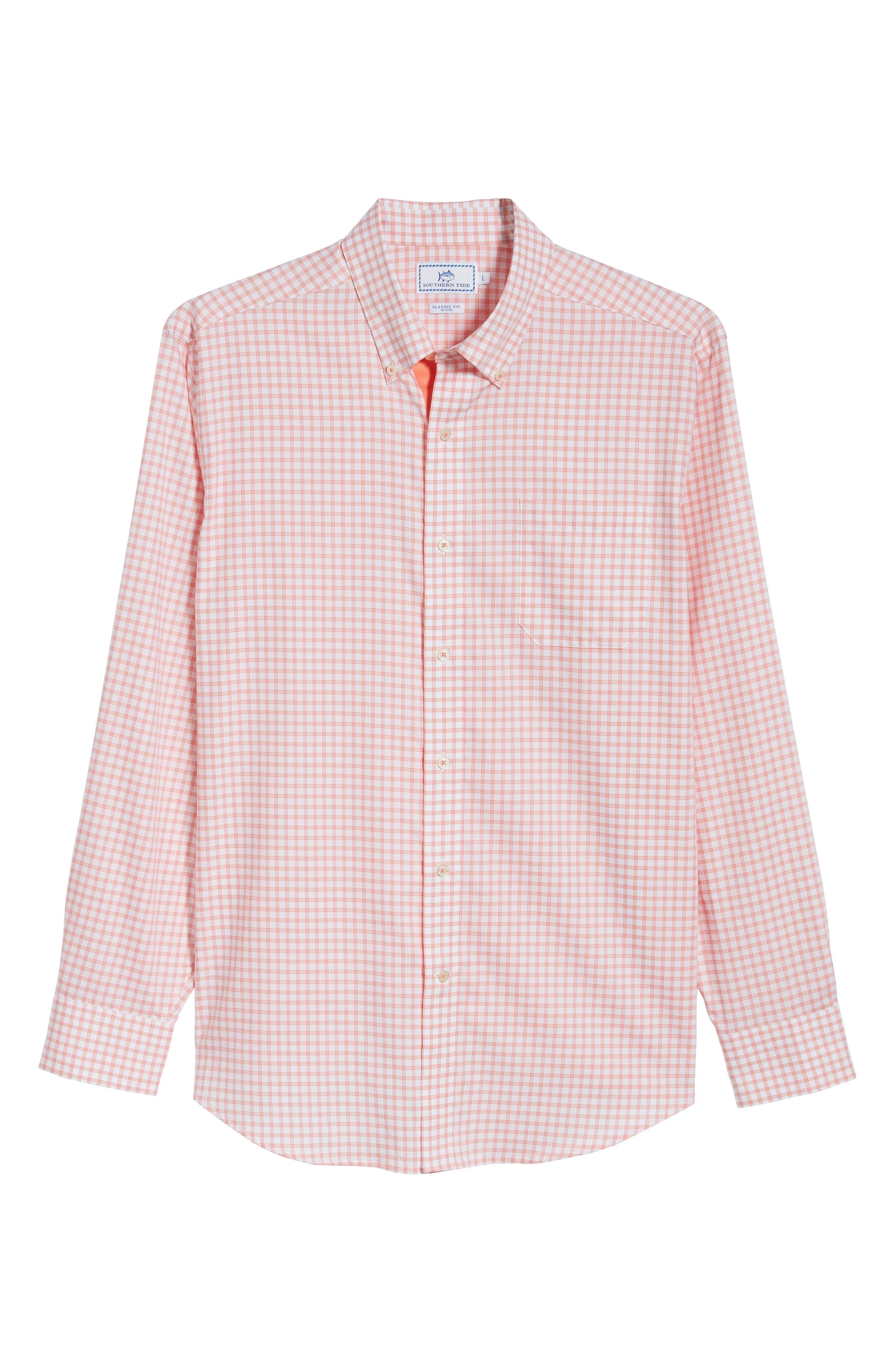 Like Oak Regular Fit Check Sport Shirt,                             Alternate thumbnail 5, color,                             Shell Pink