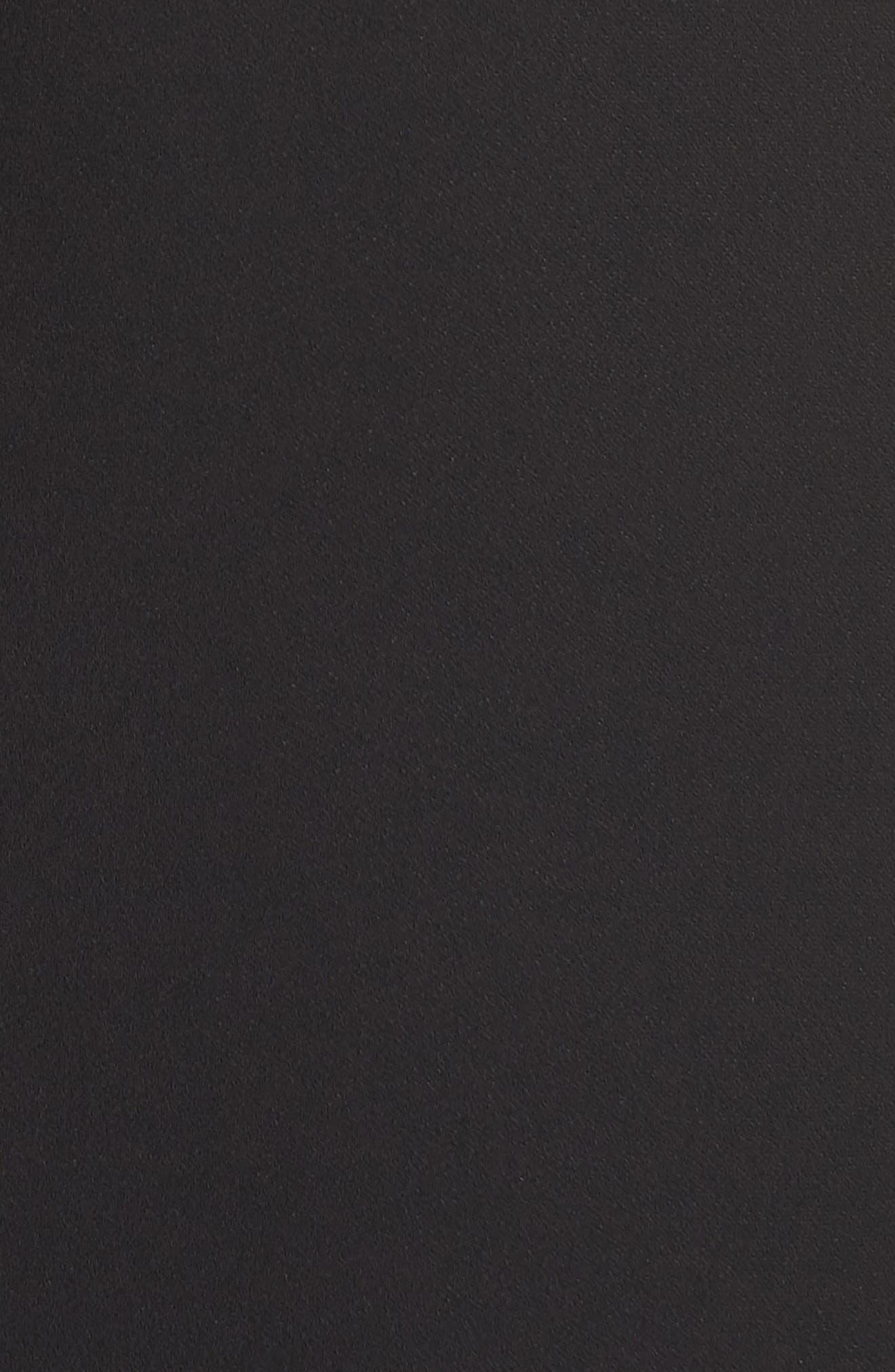 ML Monique Lhullier Sleeveless Crepe Gown,                             Alternate thumbnail 5, color,                             Black/ White