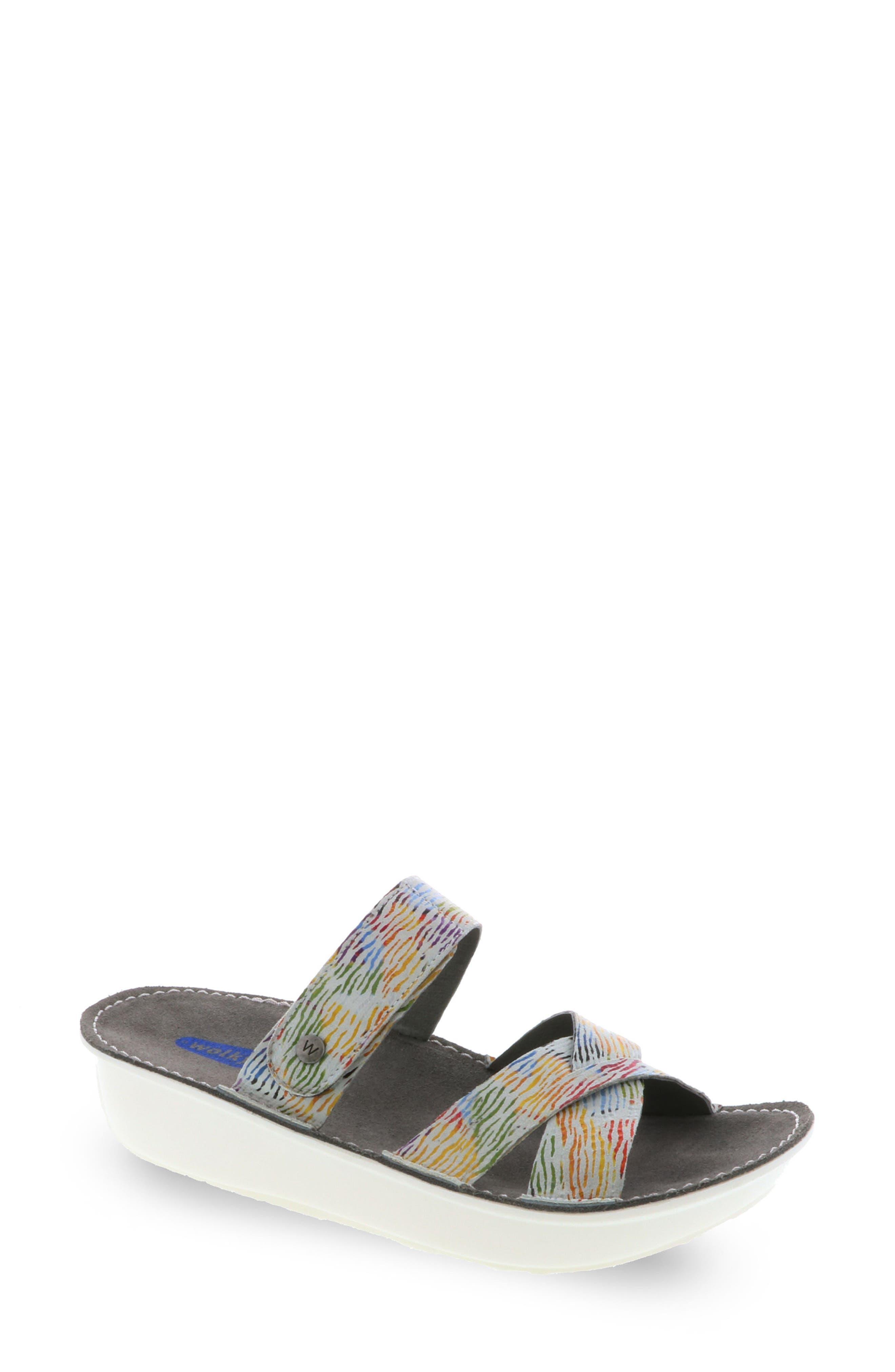 Bioko Sandal,                         Main,                         color, White Multi