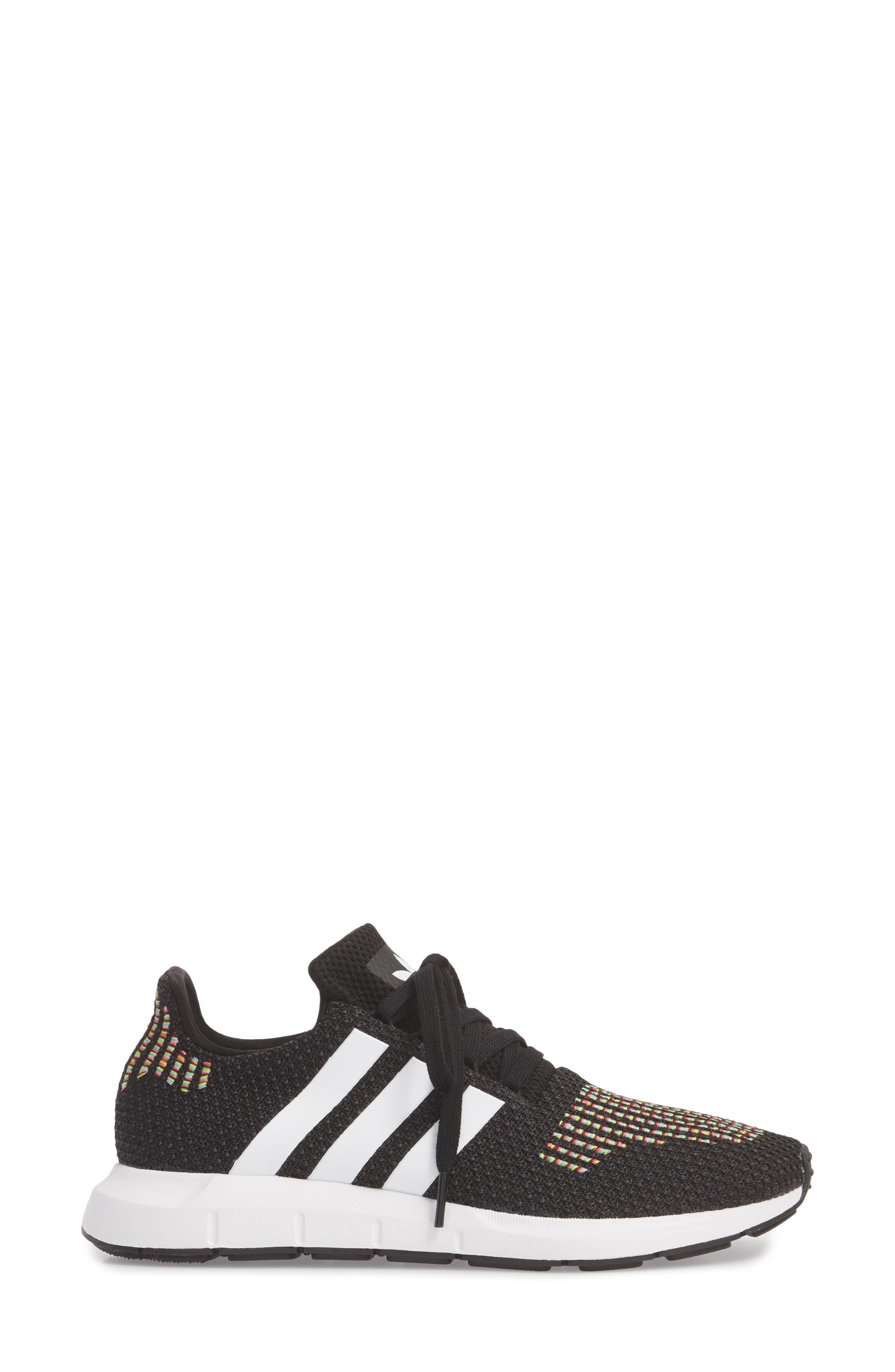 Swift Run Sneaker,                             Alternate thumbnail 3, color,                             Core Black/ White/ Core Black