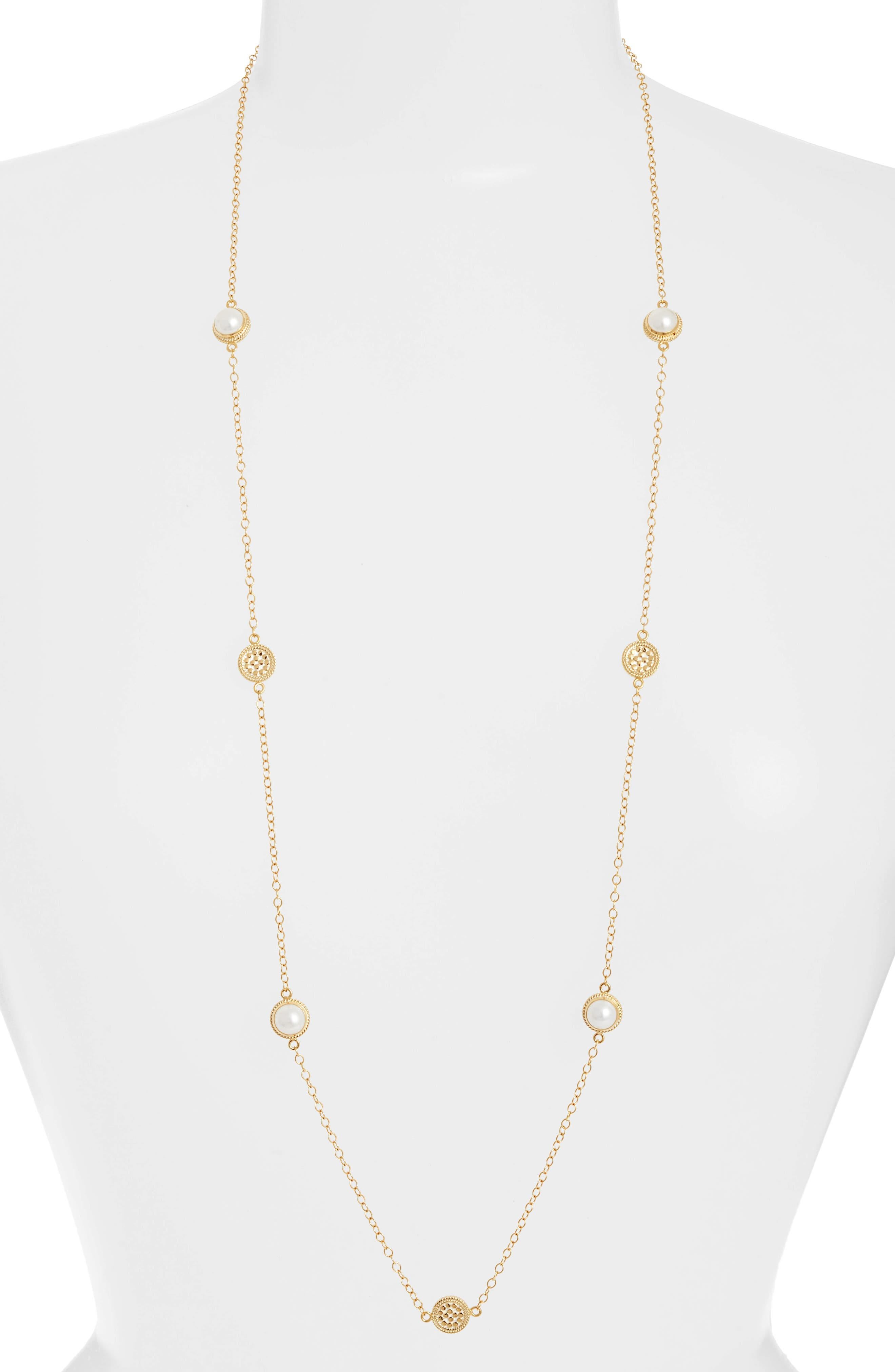 Anna Beck Pearl Long Strand Necklace
