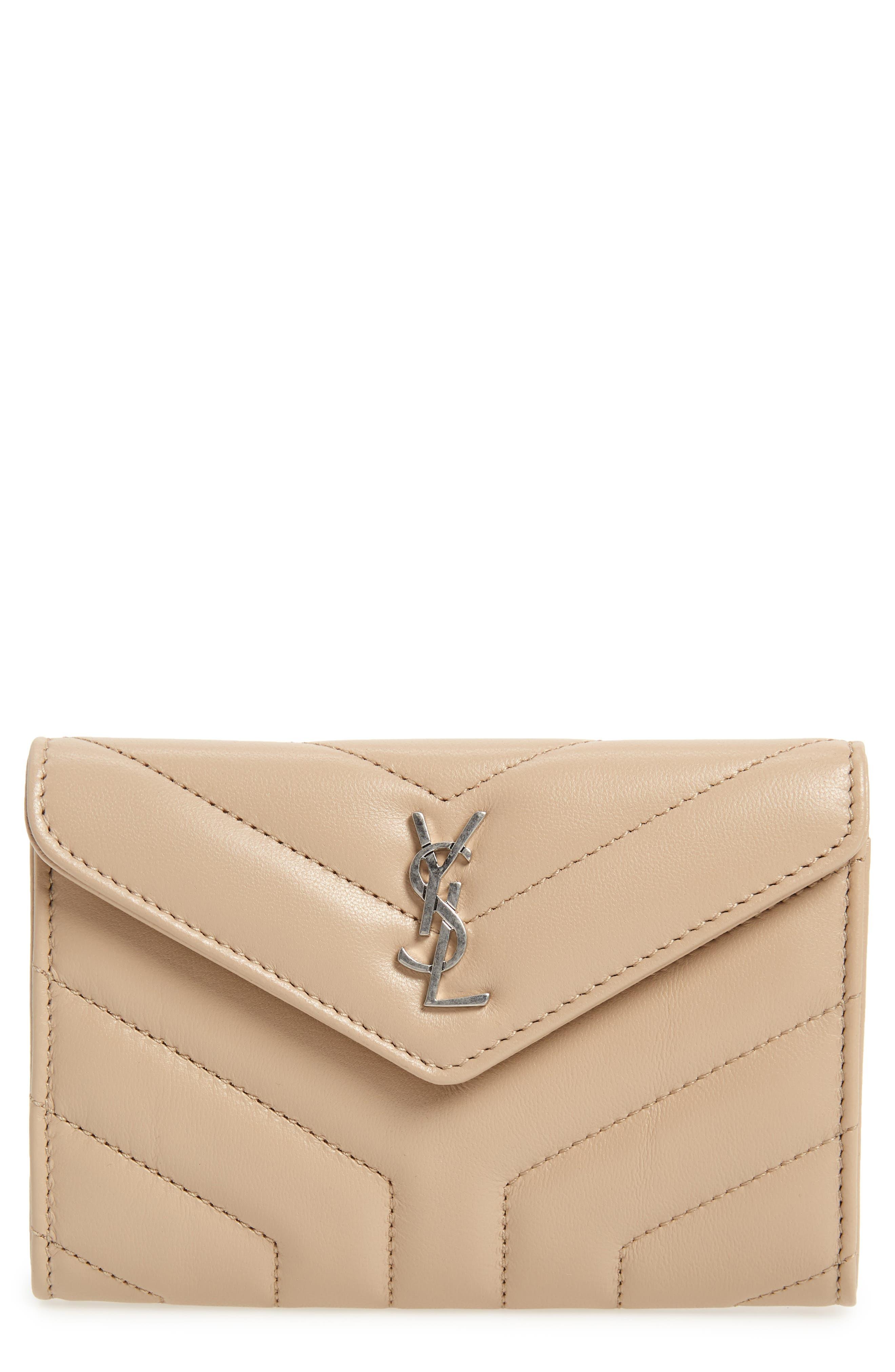 Saint Laurent Small Loulou Matelassé Leather Wallet