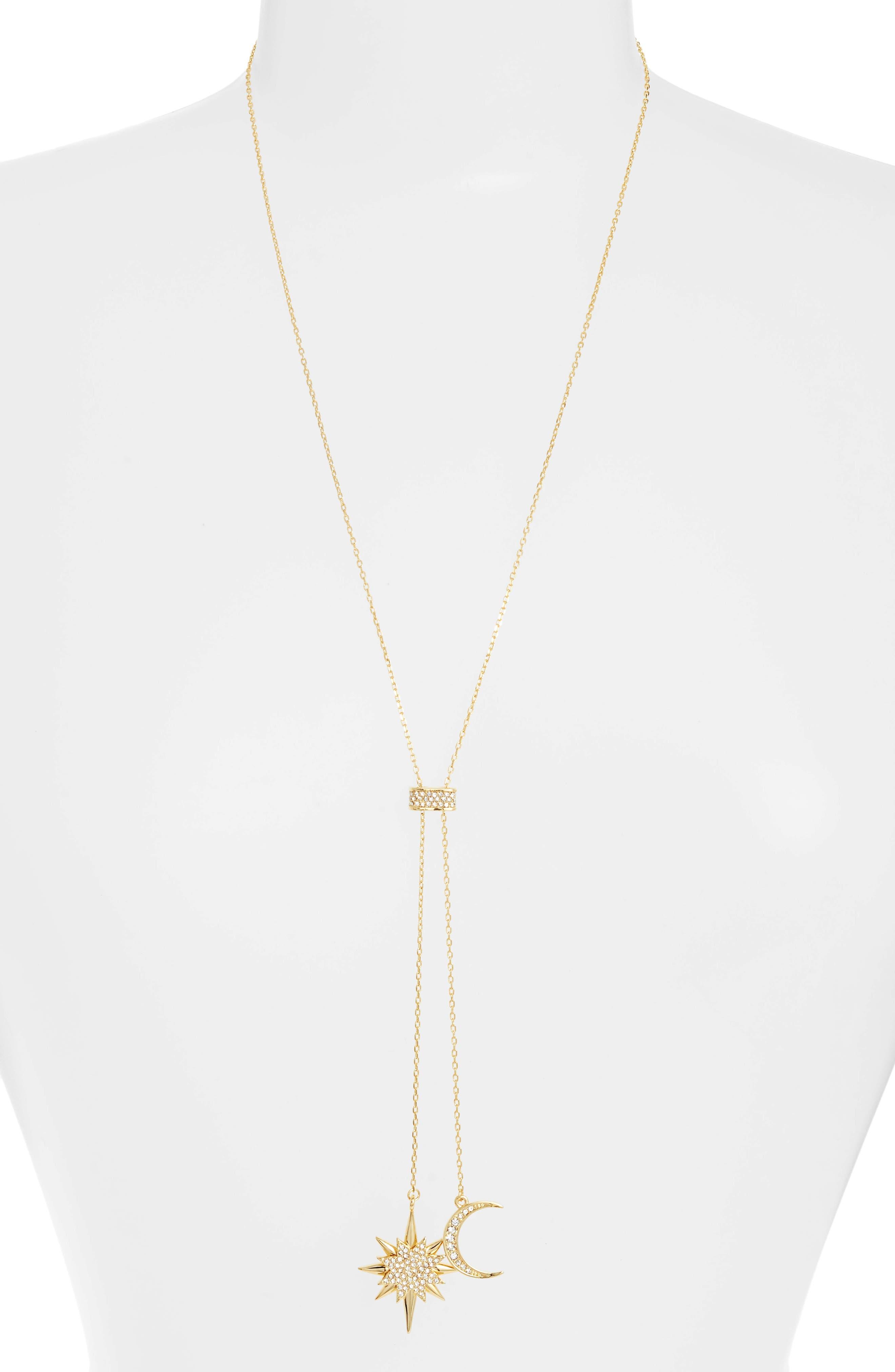 Celestial Skies Slider Pendant Necklace,                         Main,                         color, Gold