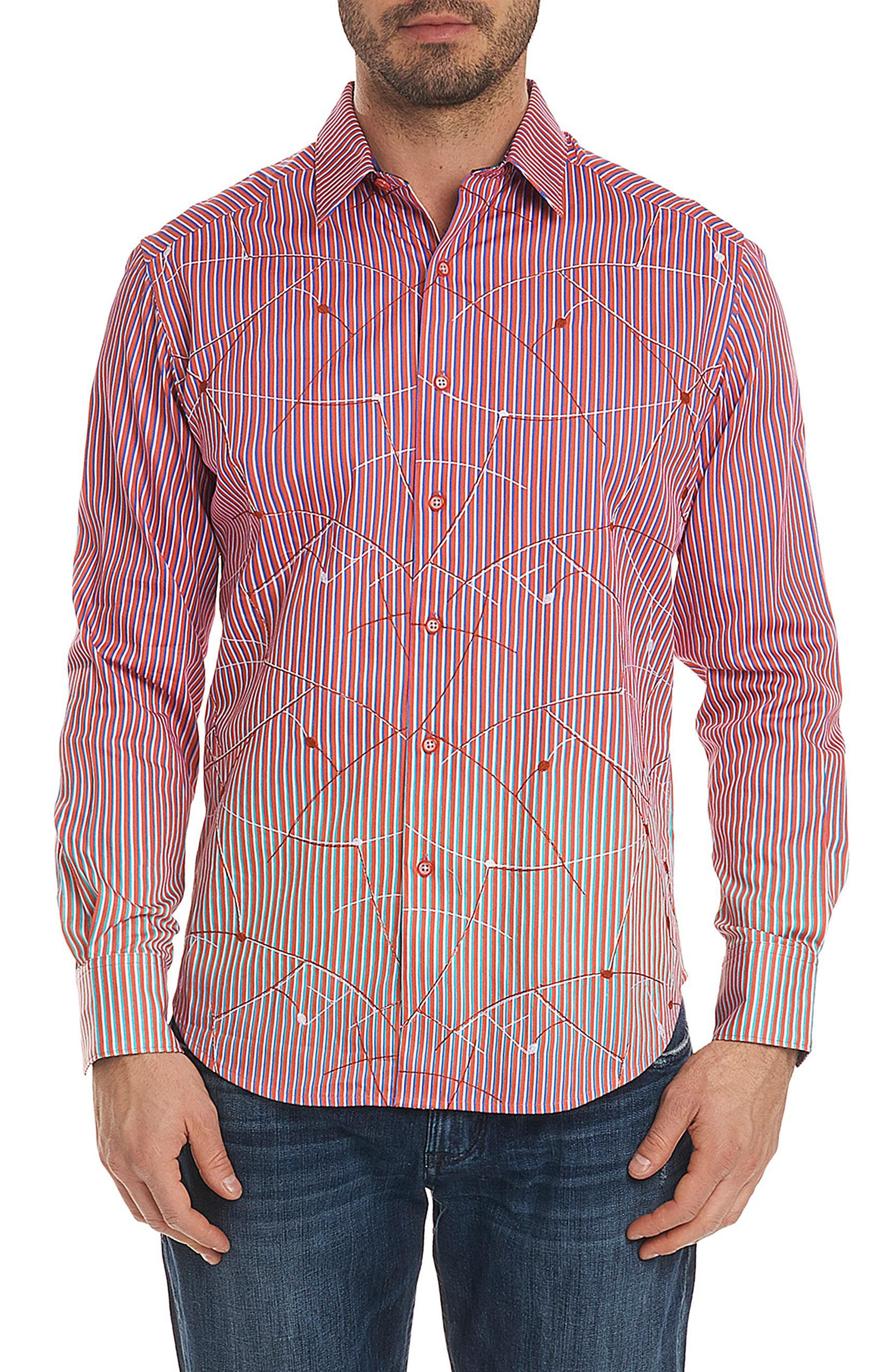 Robert Graham Morseby Stripe Sport Shirt