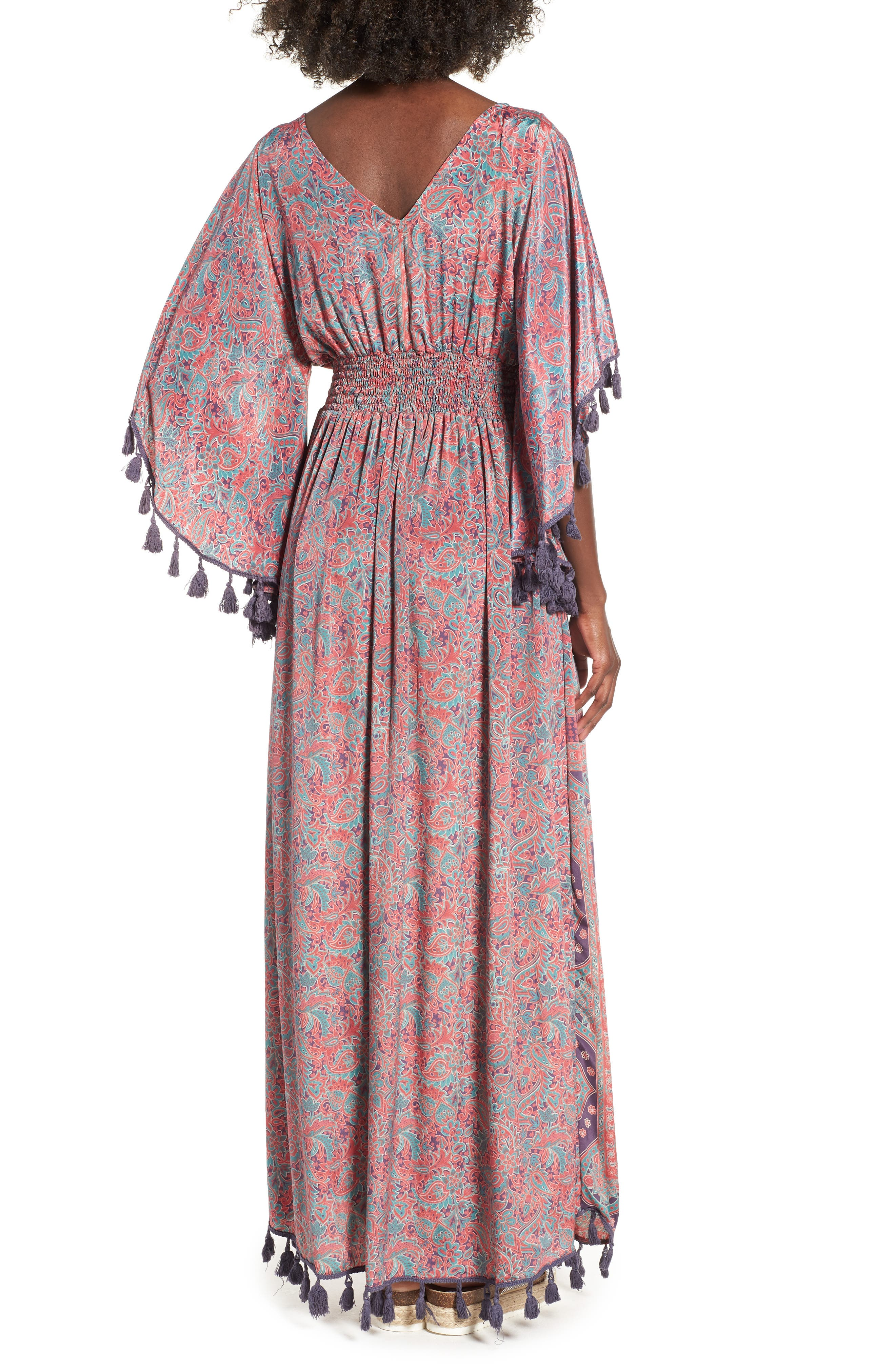 Electric Love Maxi Dress,                             Alternate thumbnail 2, color,                             Multi