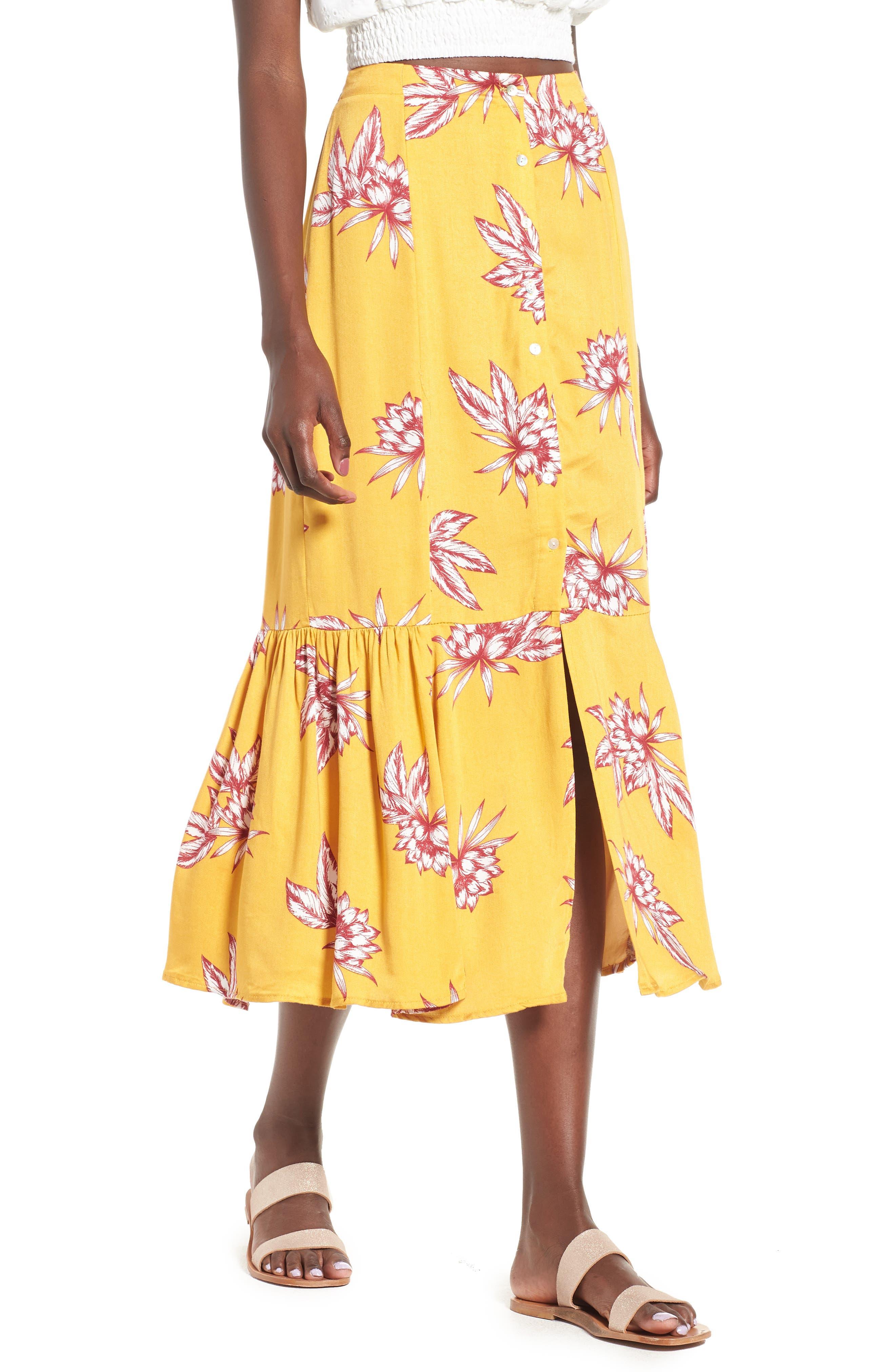 Searing Soul Midi Skirt,                             Main thumbnail 1, color,                             Multi
