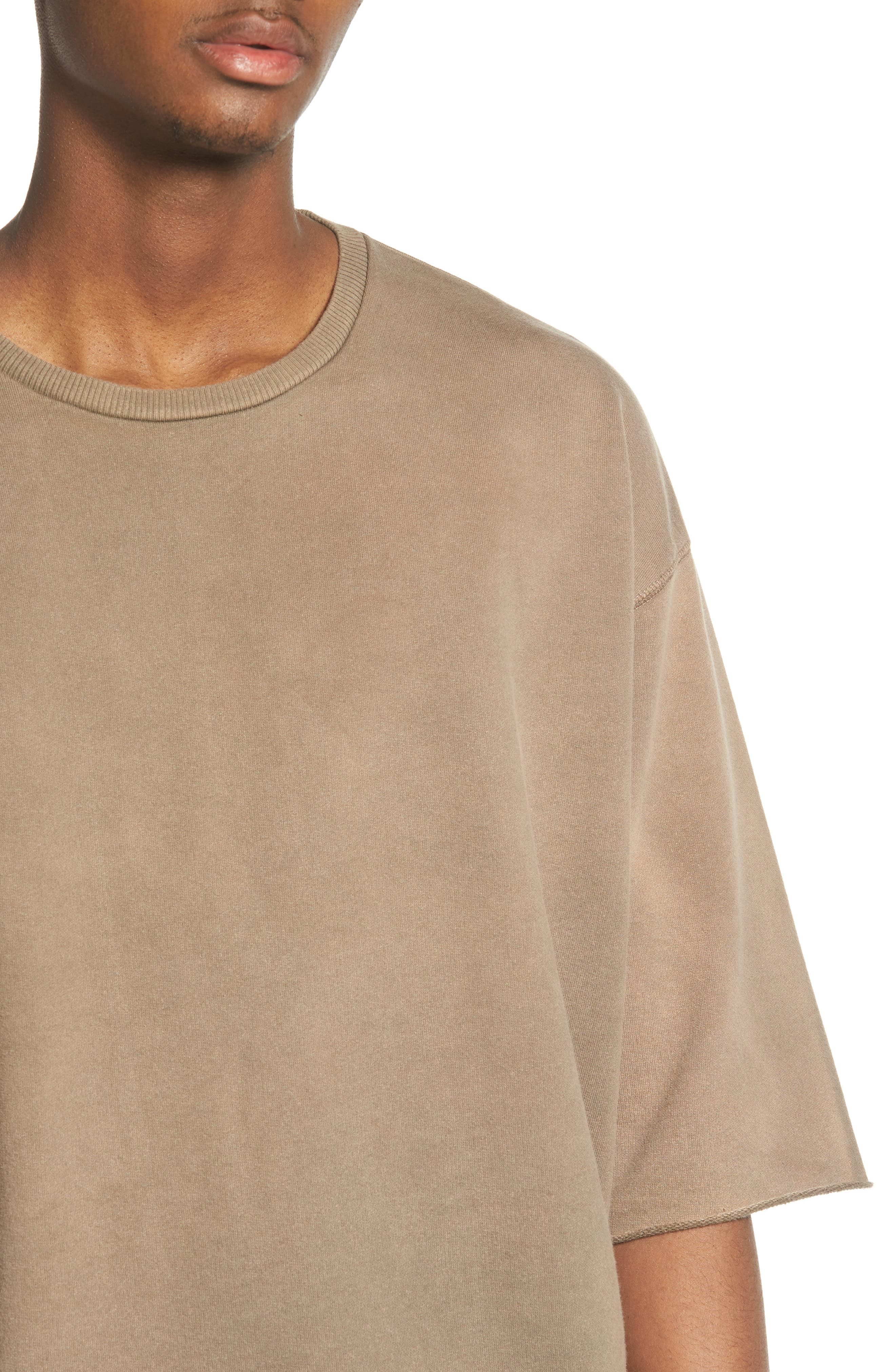 Washed Terry Pullover,                             Alternate thumbnail 4, color,                             Olive Dusk
