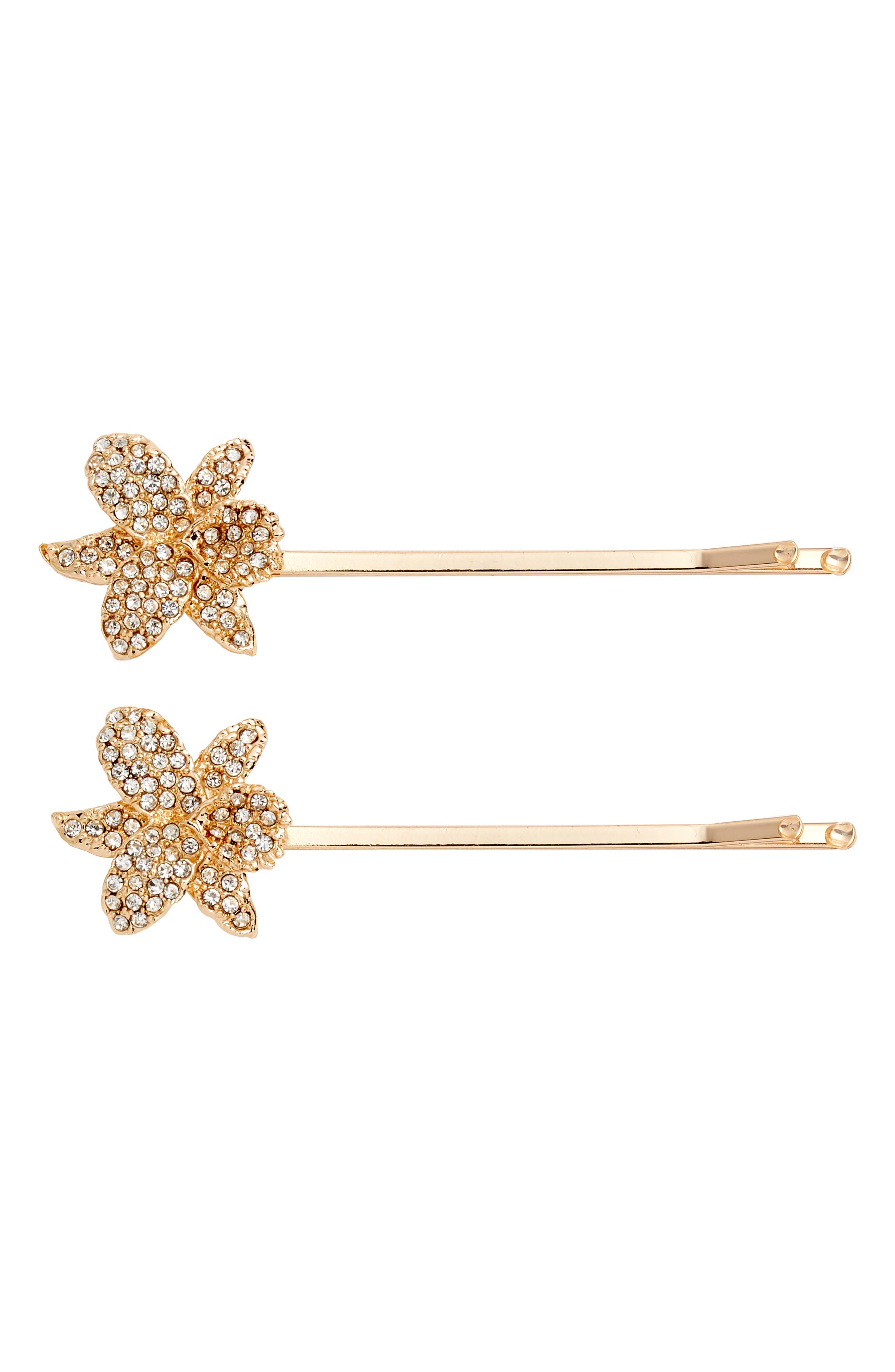 Nina Small Orchid Bobby Pins