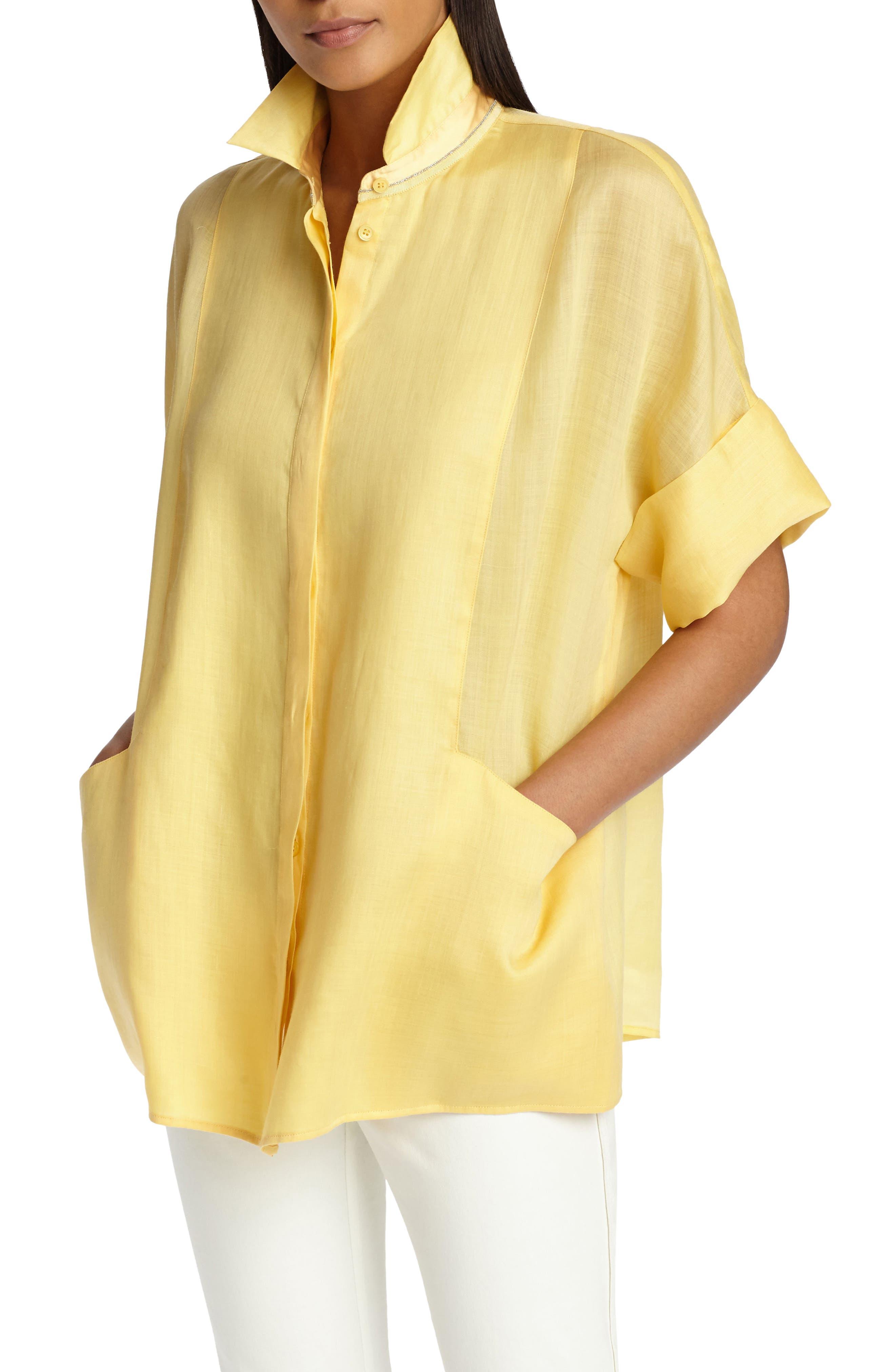 Lafayette 148 New York Cora Gemma Cloth Shirt