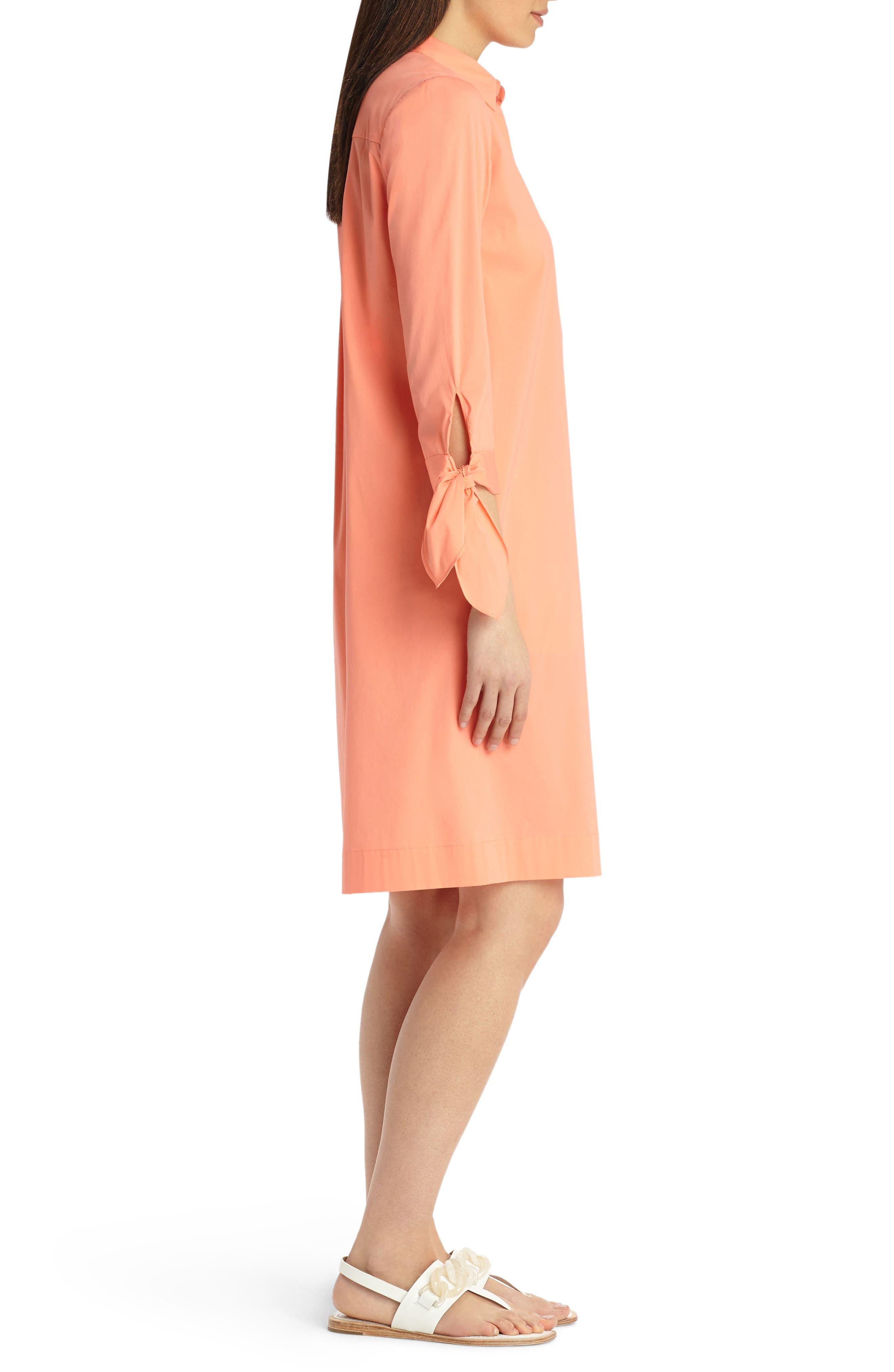 Alternate Image 3  - Lafayette 148 New York Talia Stretch Cotton Blend Dress