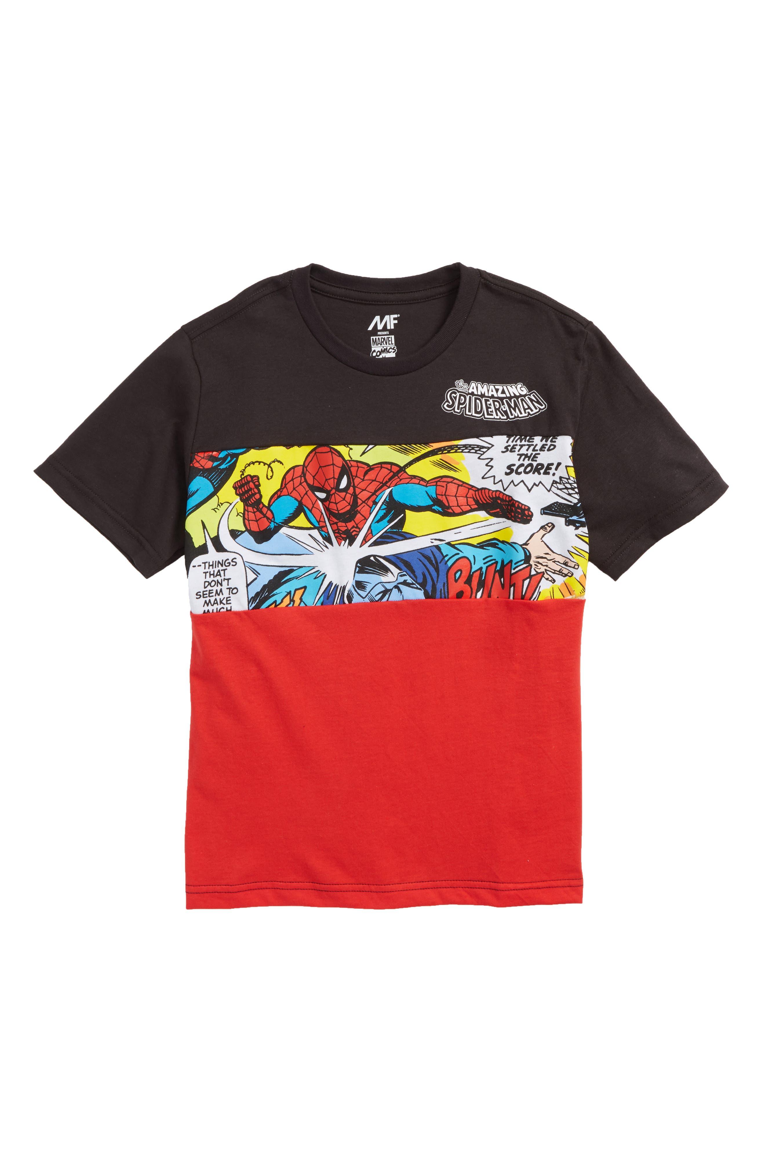 Mighty Fine x Marvel Spider-Man Attack T-Shirt (Big Boys)
