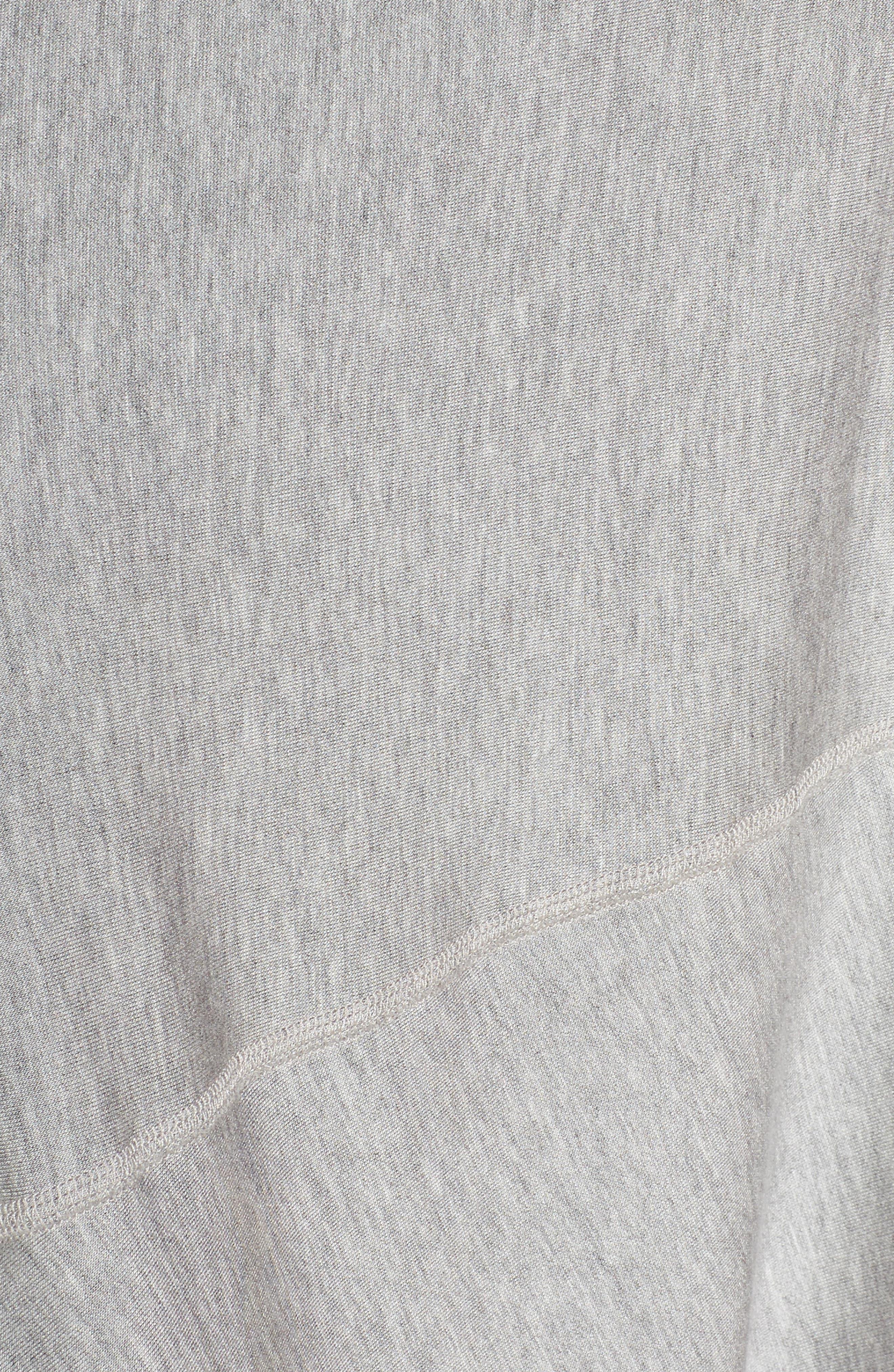 'Cozy' Convertible Fleece Pullover,                             Alternate thumbnail 7, color,                             Light Heather Gray