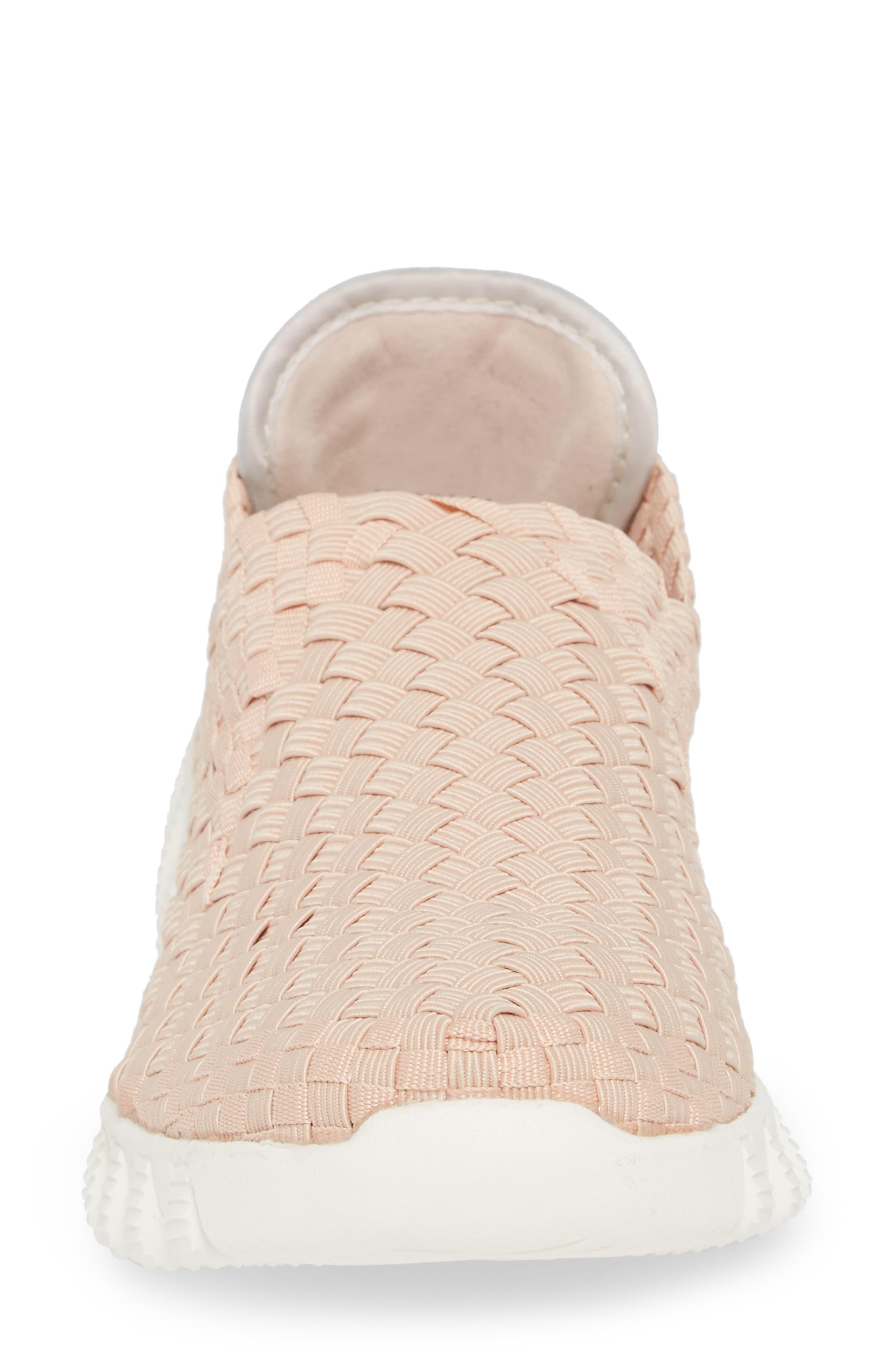 Woven Slip-On Sneaker,                             Alternate thumbnail 4, color,                             Blush Fabric