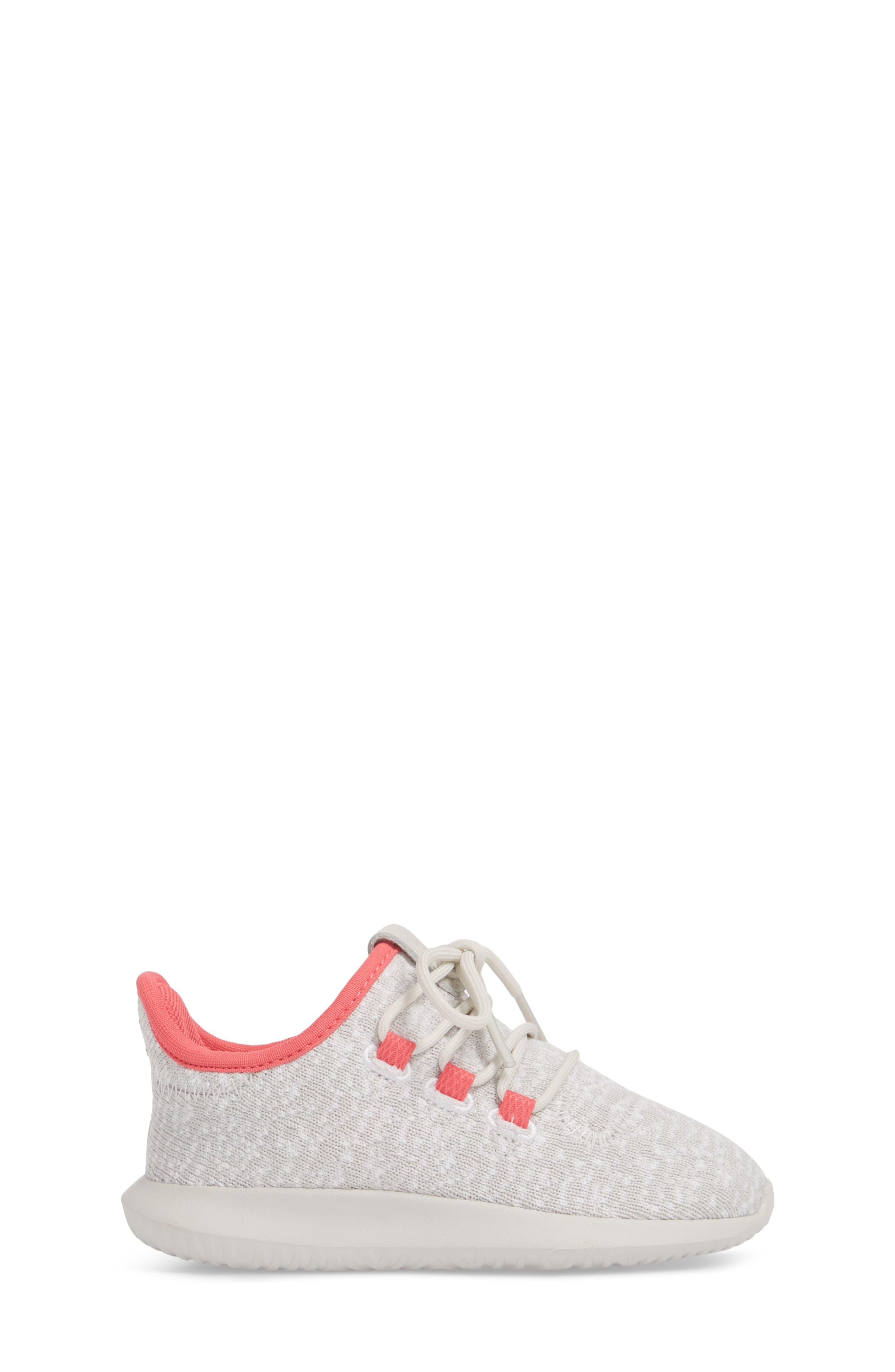 Tubular Shadow Sneaker,                             Alternate thumbnail 3, color,                             Grey/ Ash Pink/ White