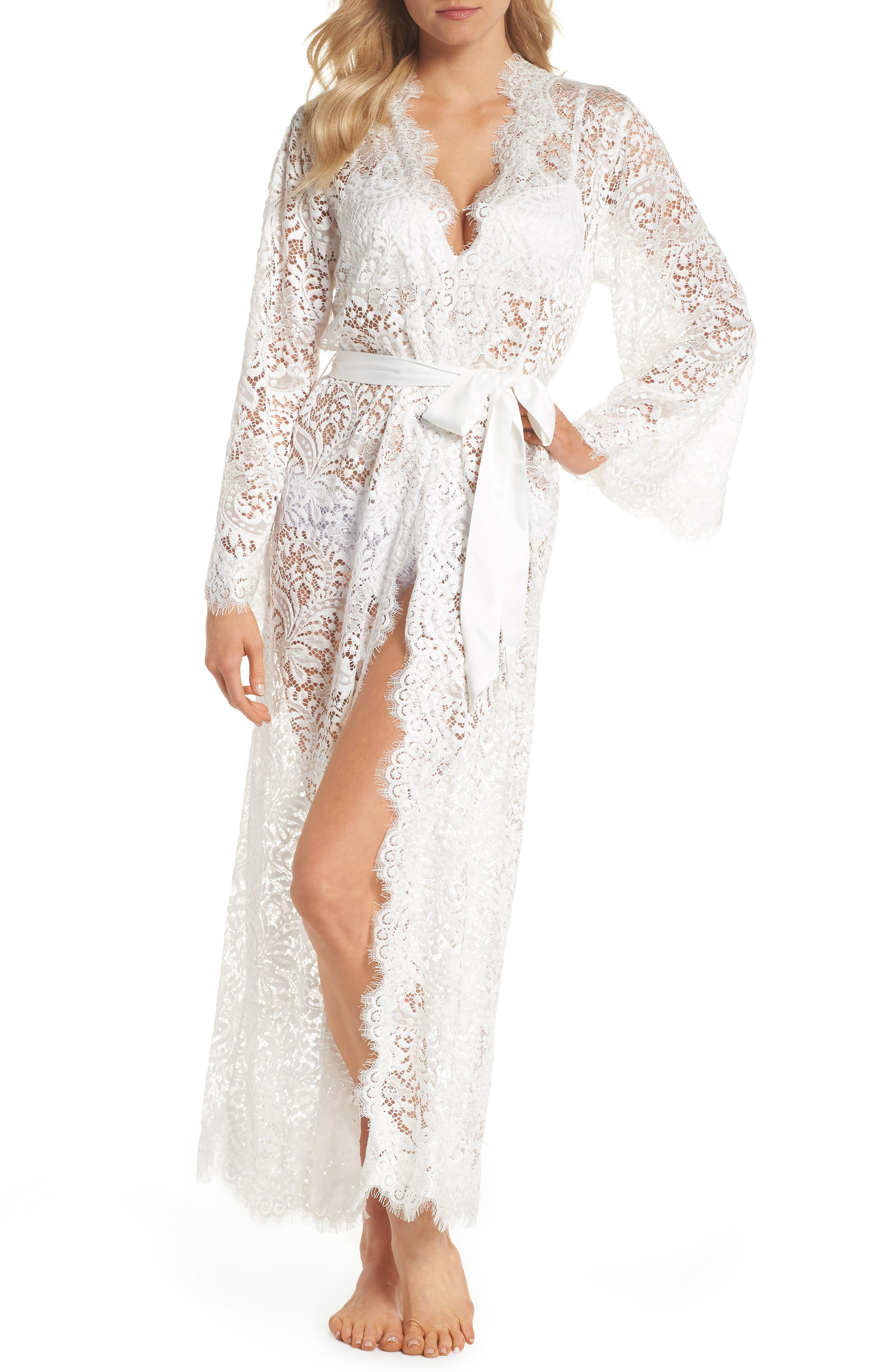 Anemone Long Lace Wrap,                         Main,                         color, White