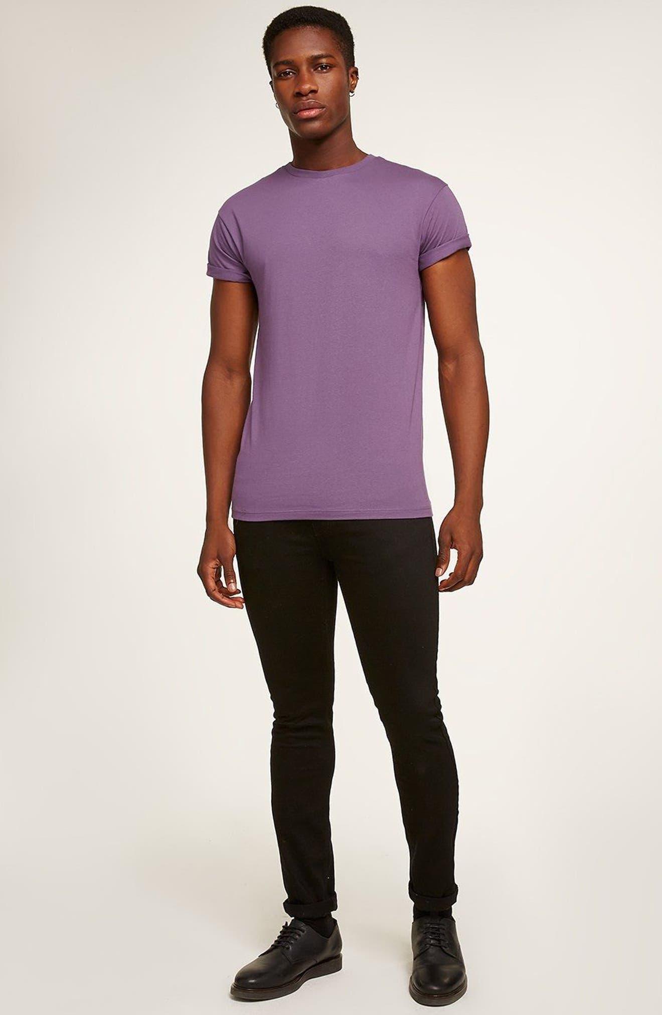 Muscle Fit Roller T-Shirt,                             Alternate thumbnail 5, color,                             Medium Purple