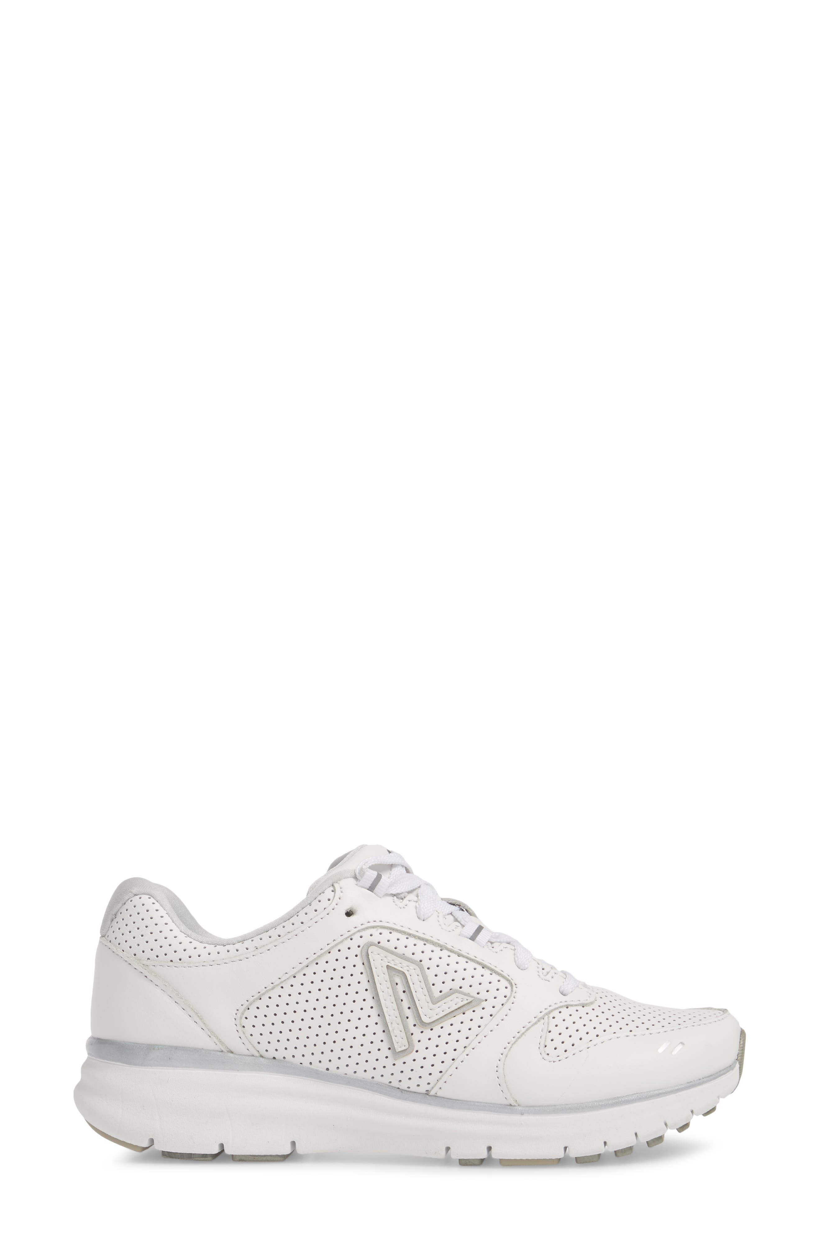 Thrill Sneaker,                             Alternate thumbnail 3, color,                             White Suede