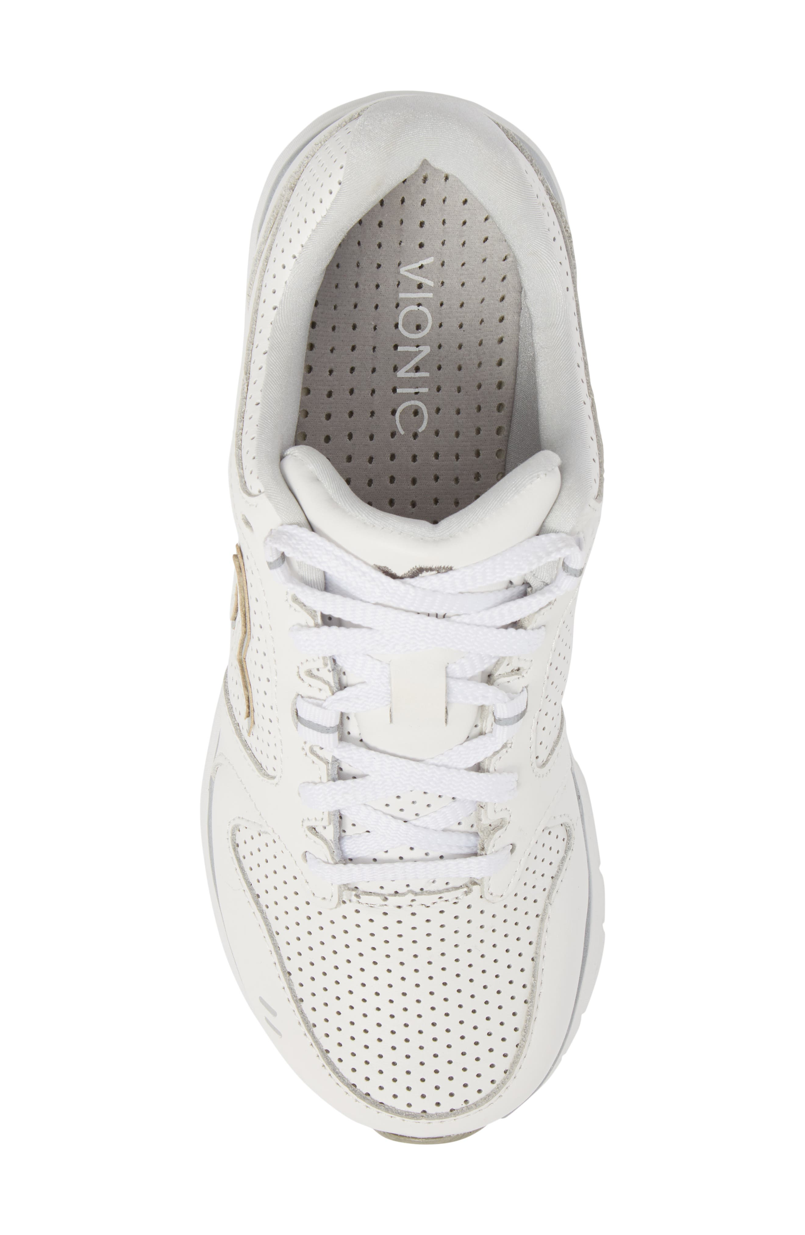 Thrill Sneaker,                             Alternate thumbnail 5, color,                             White Suede