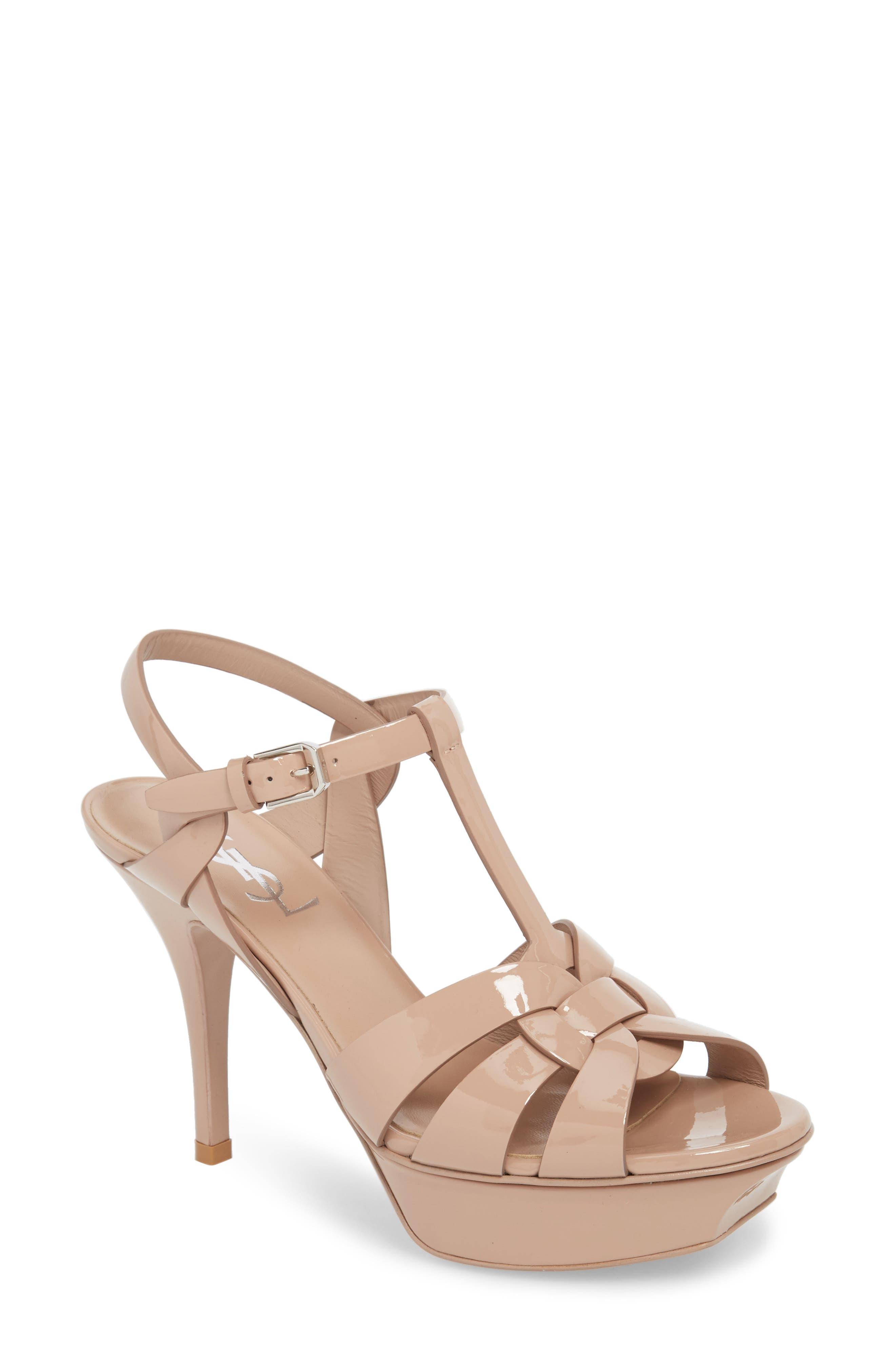 Main Image - Saint Laurent Tribute T-Strap Platform Sandal (Women)