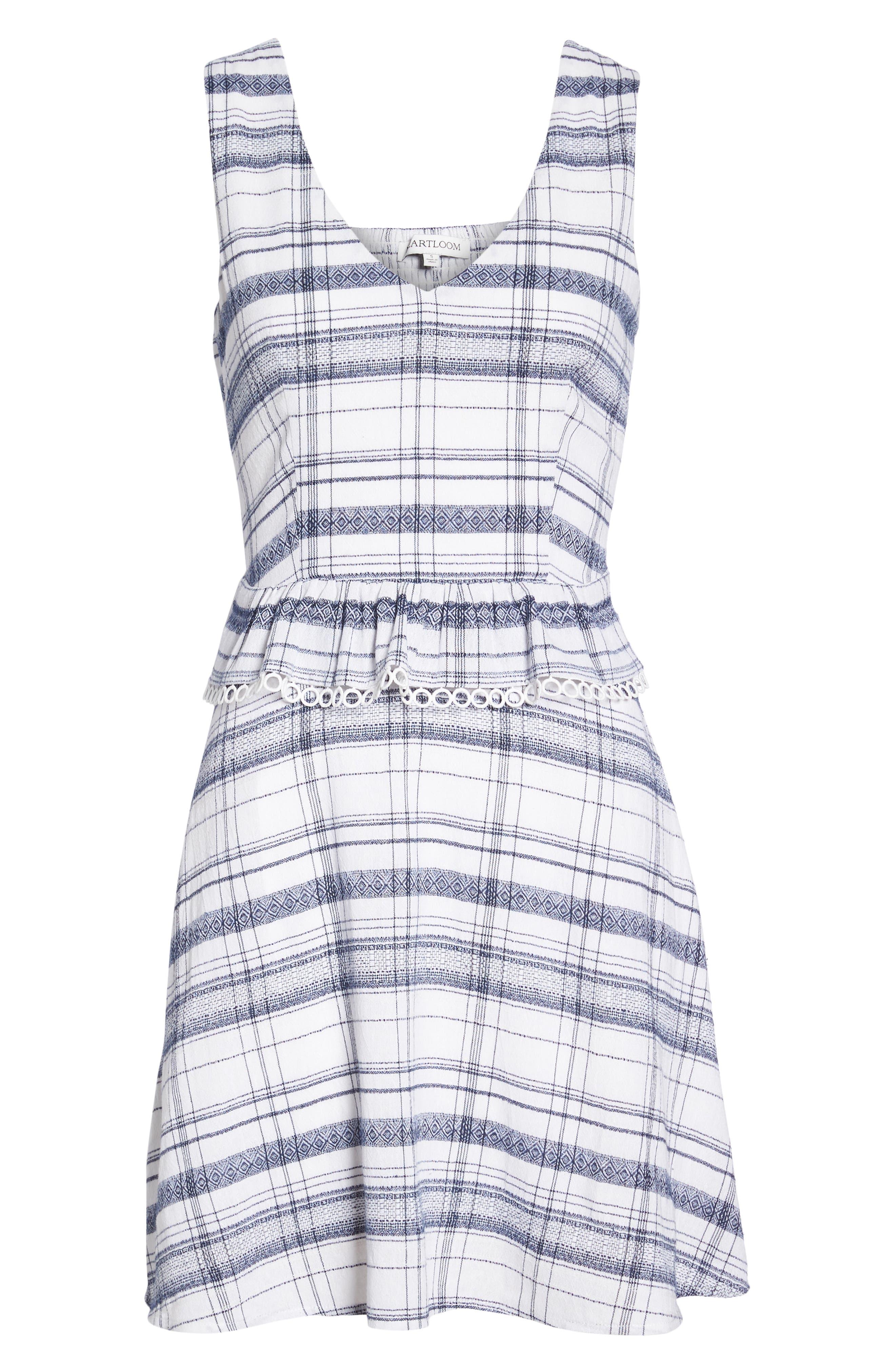 Aubrey Plaid Fit & Flare Dress,                             Alternate thumbnail 7, color,                             Multi