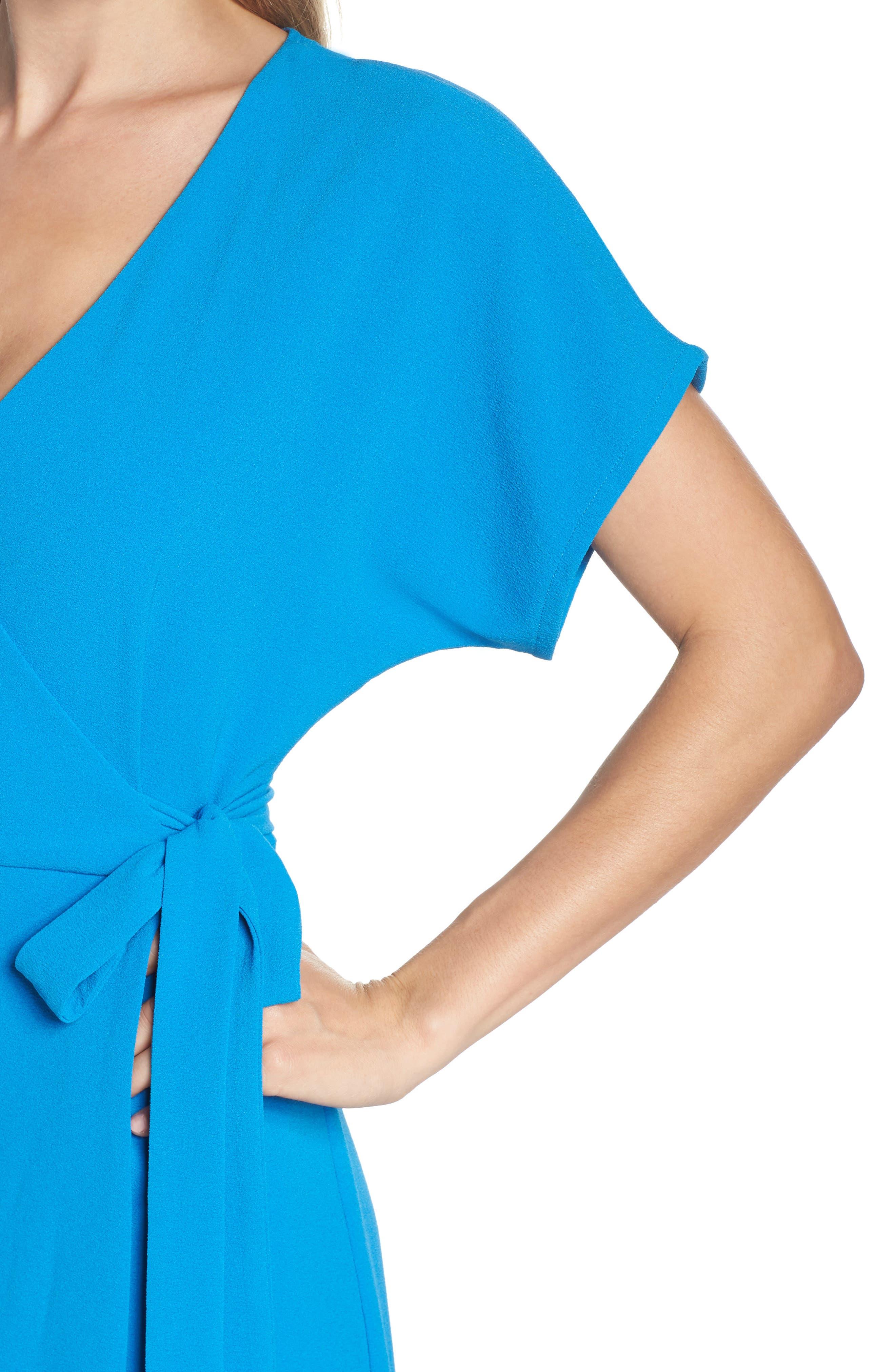 Rita Wrap Dress,                             Alternate thumbnail 4, color,                             Cobalt