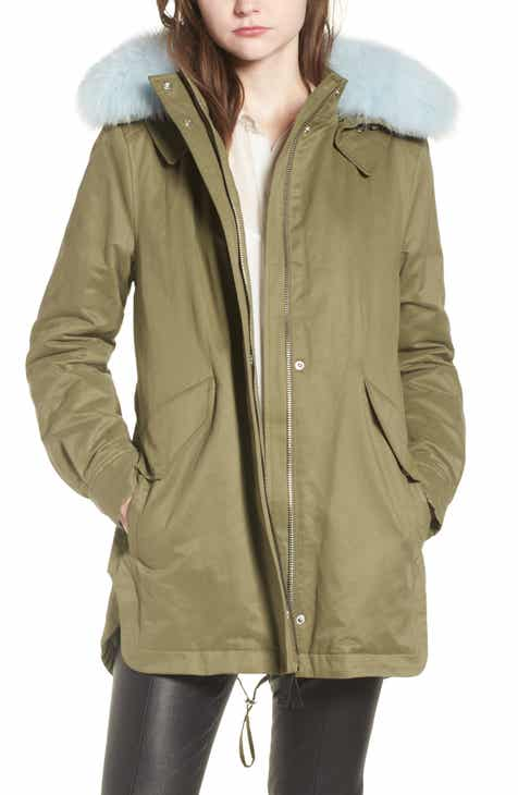 212cd67f54bd Derek Lam 10 Crosby Genuine Fox Fur Trim Cotton Blend Parka