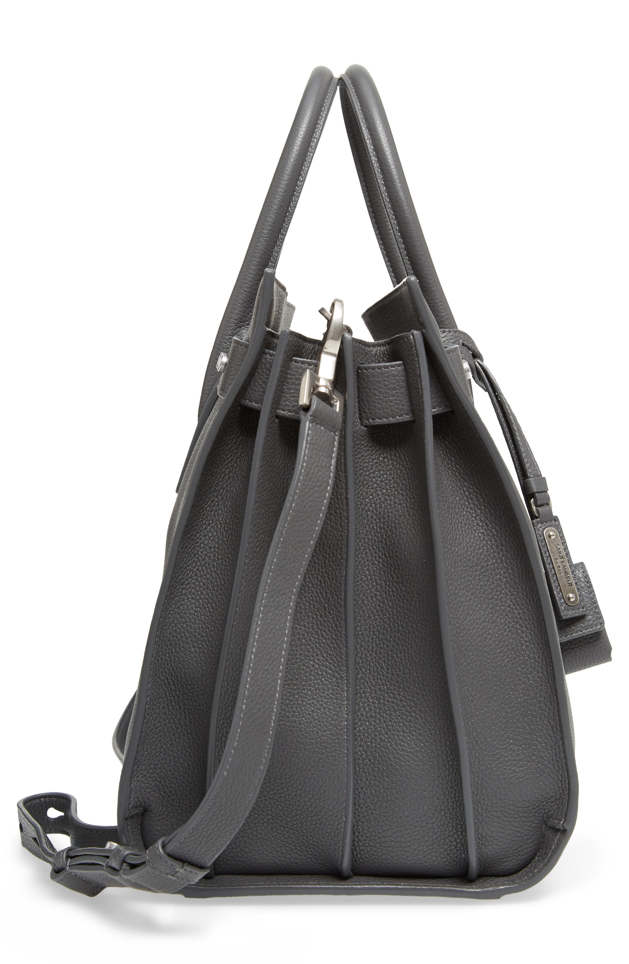 Medium Sac de Jour Grained Leather Tote,                             Alternate thumbnail 4, color,                             Storm