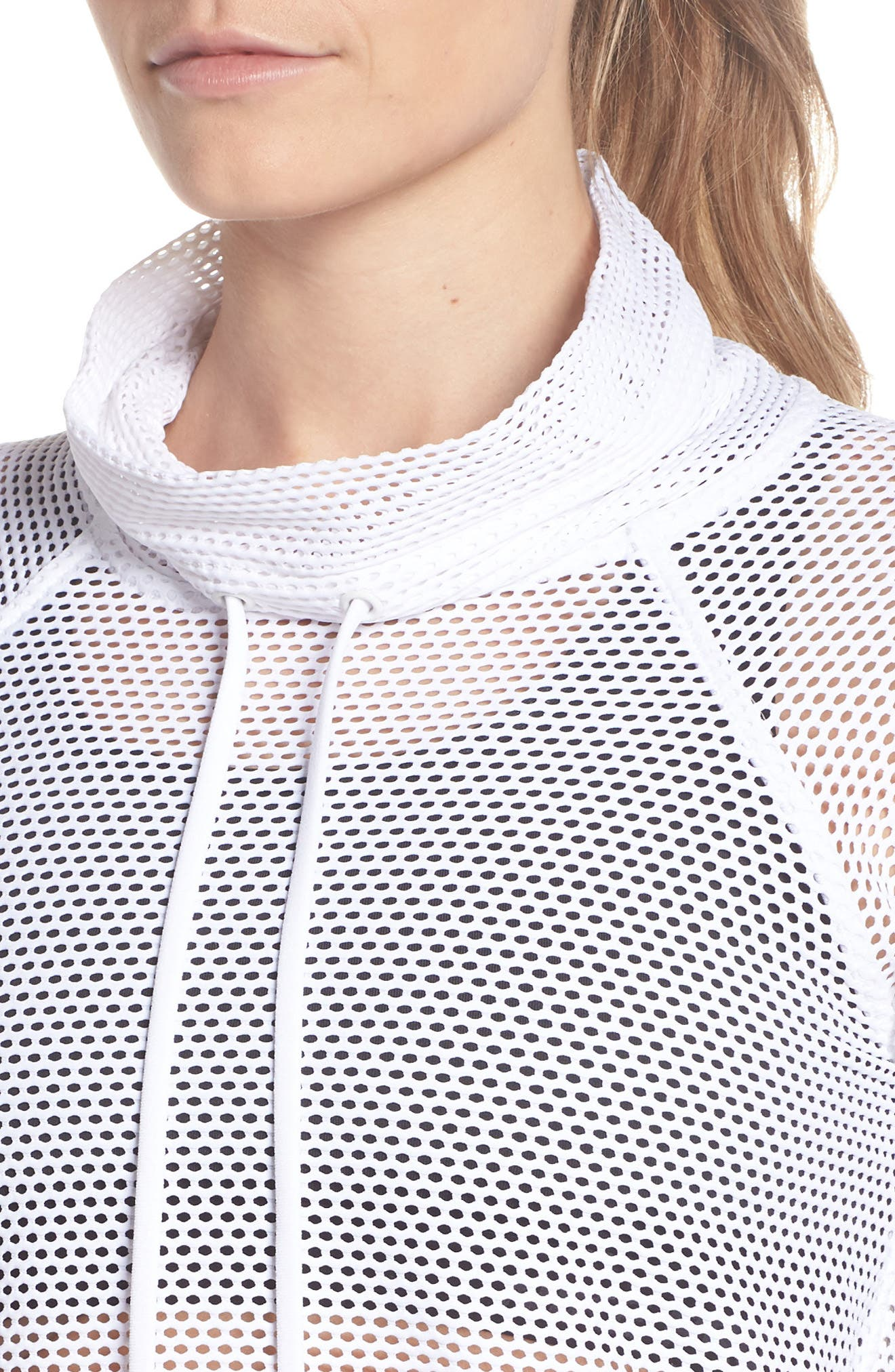 Mesh Pullover,                             Alternate thumbnail 3, color,                             White