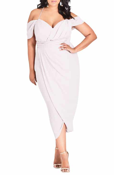 aca54f8b0a6 City Chic Entwine Cold Shoulder Maxi Dress (Plus Size)