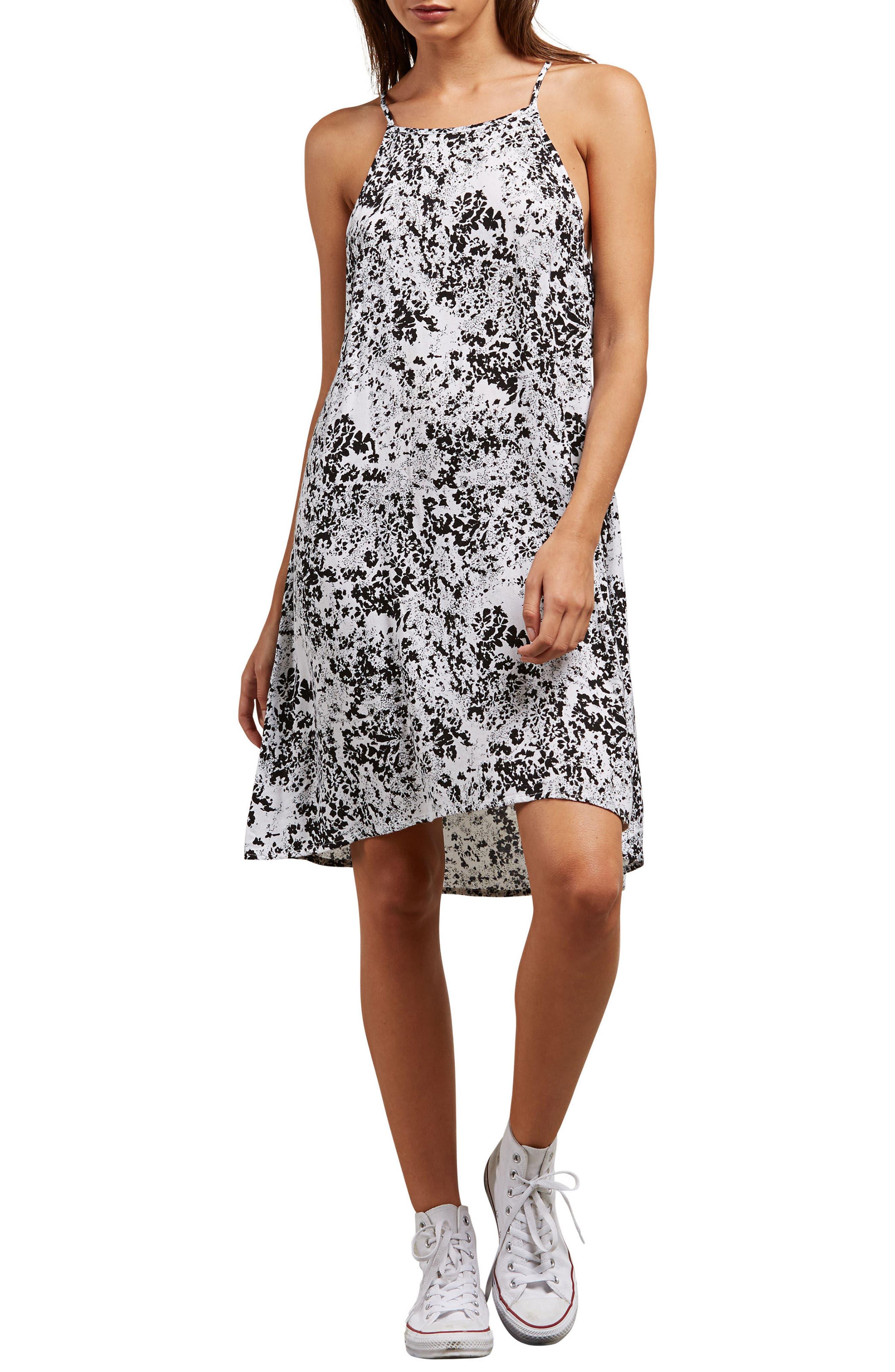 Soul Window Dress,                         Main,                         color, Black/ White