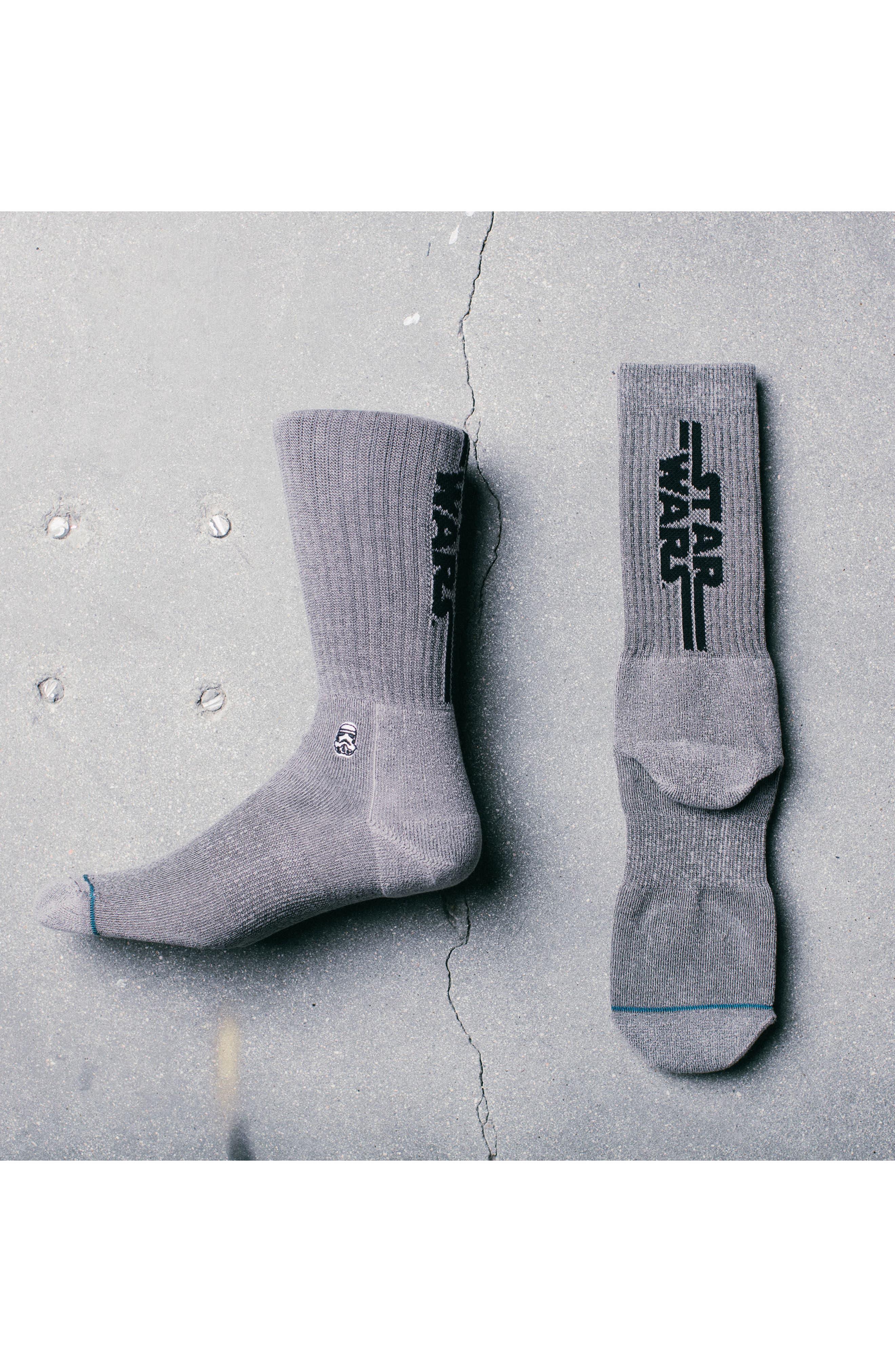 Star Wars Solid Trooper Socks,                             Alternate thumbnail 2, color,                             Black