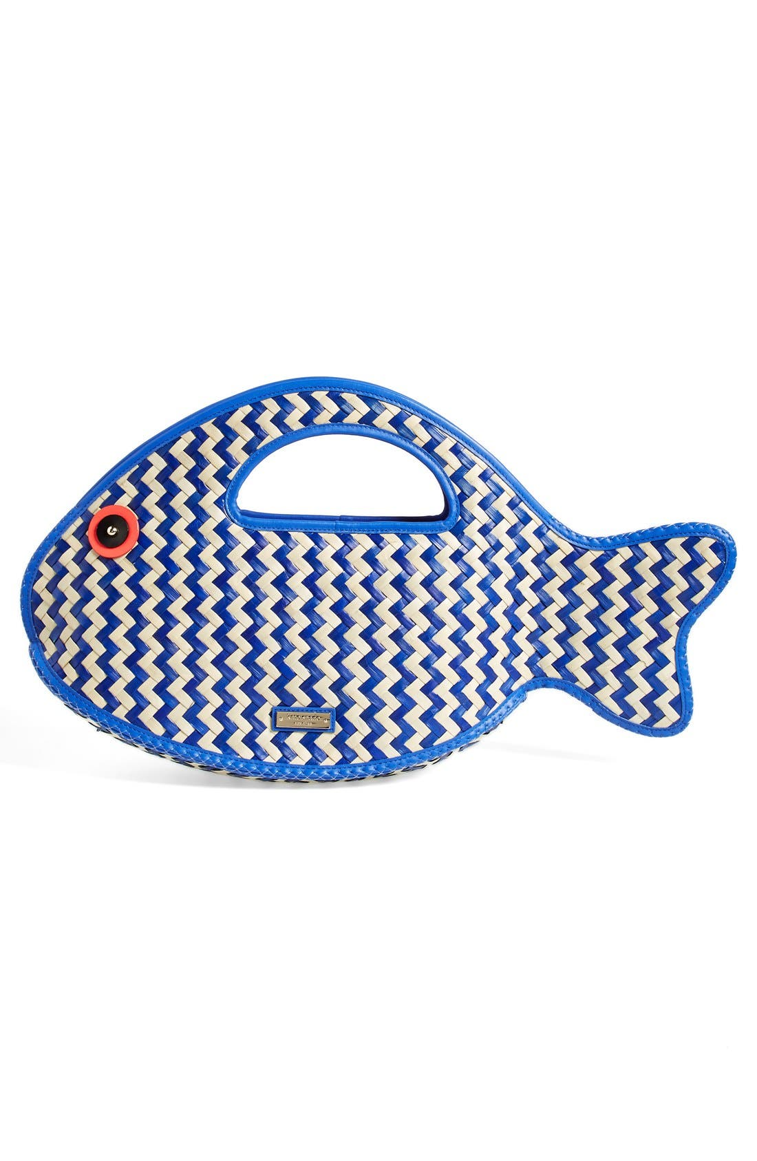 Alternate Image 3  - kate spade new york 'splash out - fish' straw tote