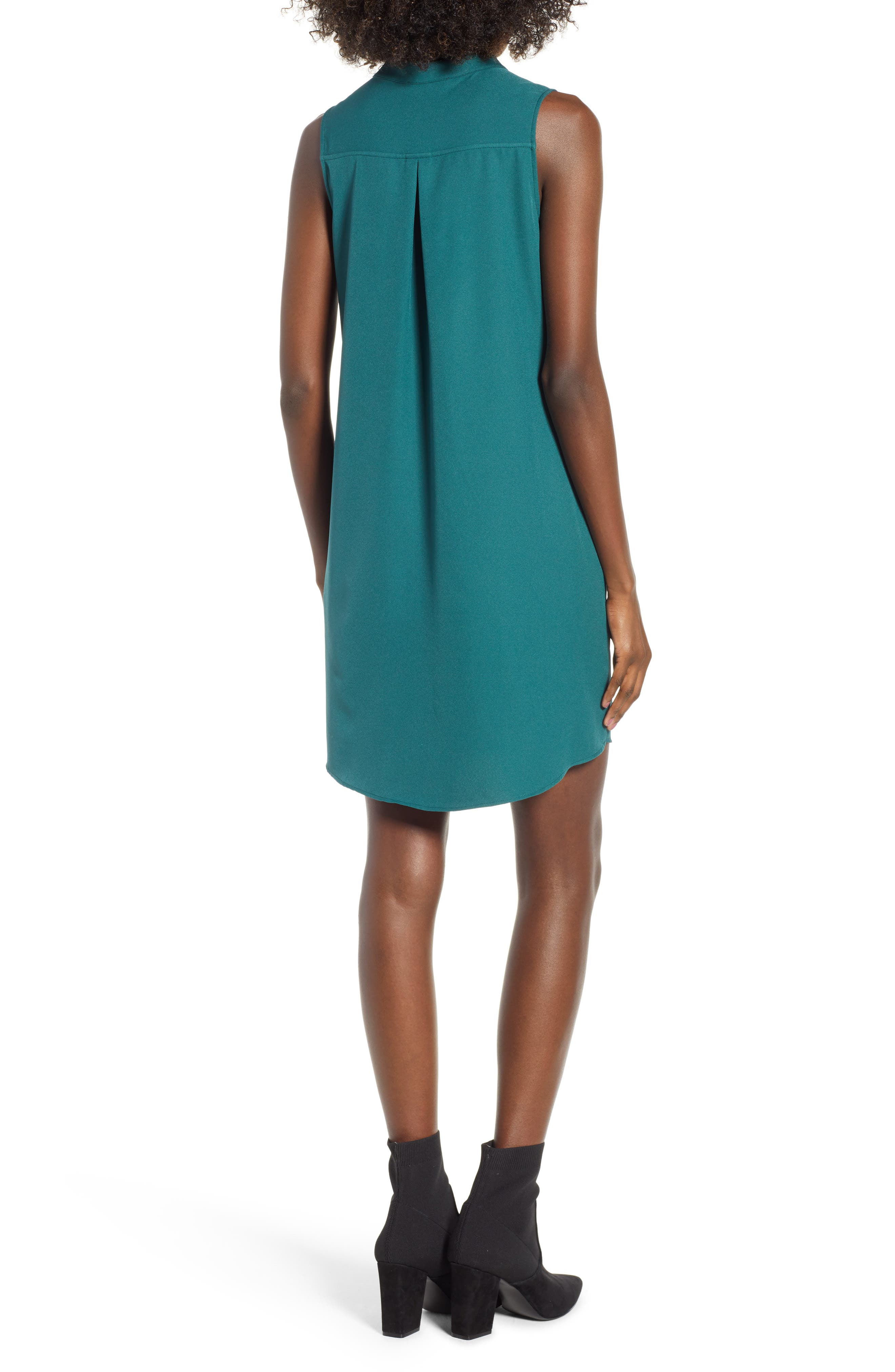 Taylor Shift Dress,                             Alternate thumbnail 2, color,                             Green Bug