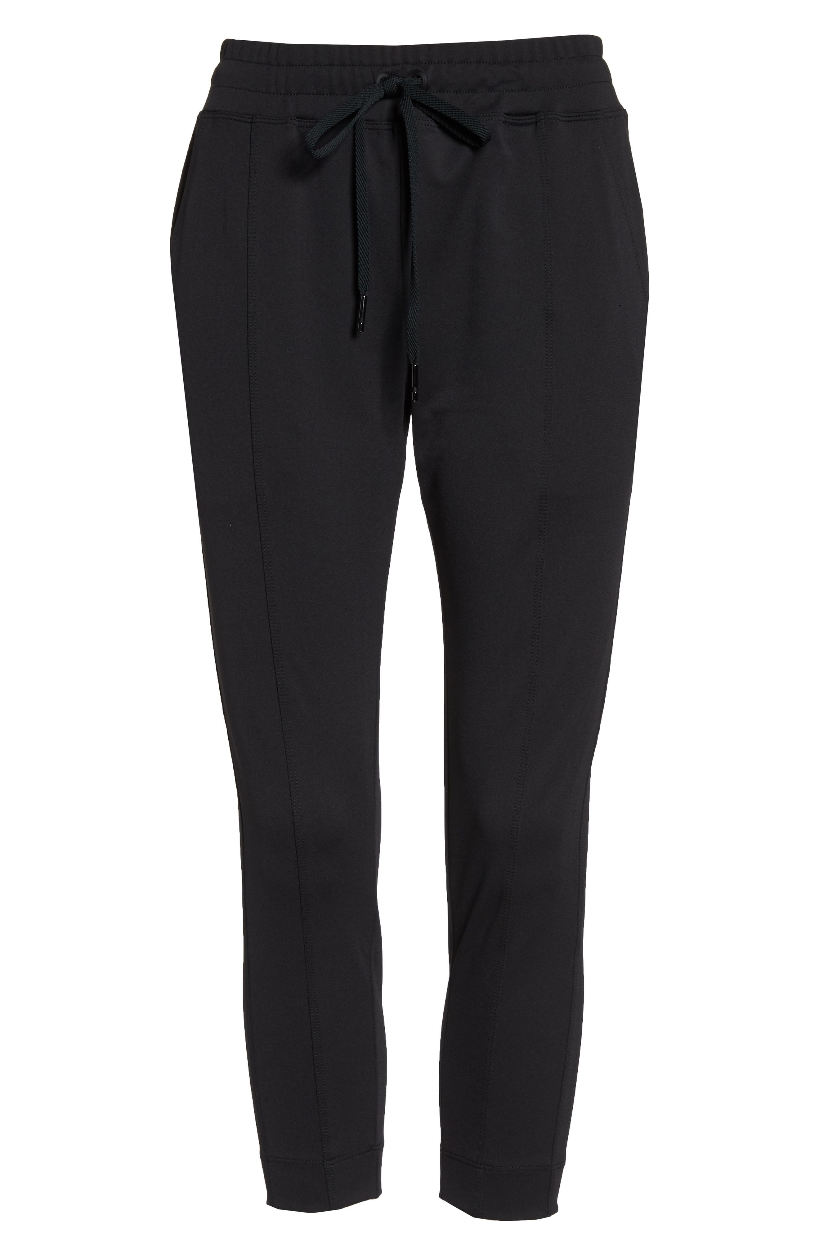 Mica Crop Track Pants,                             Alternate thumbnail 7, color,                             Black