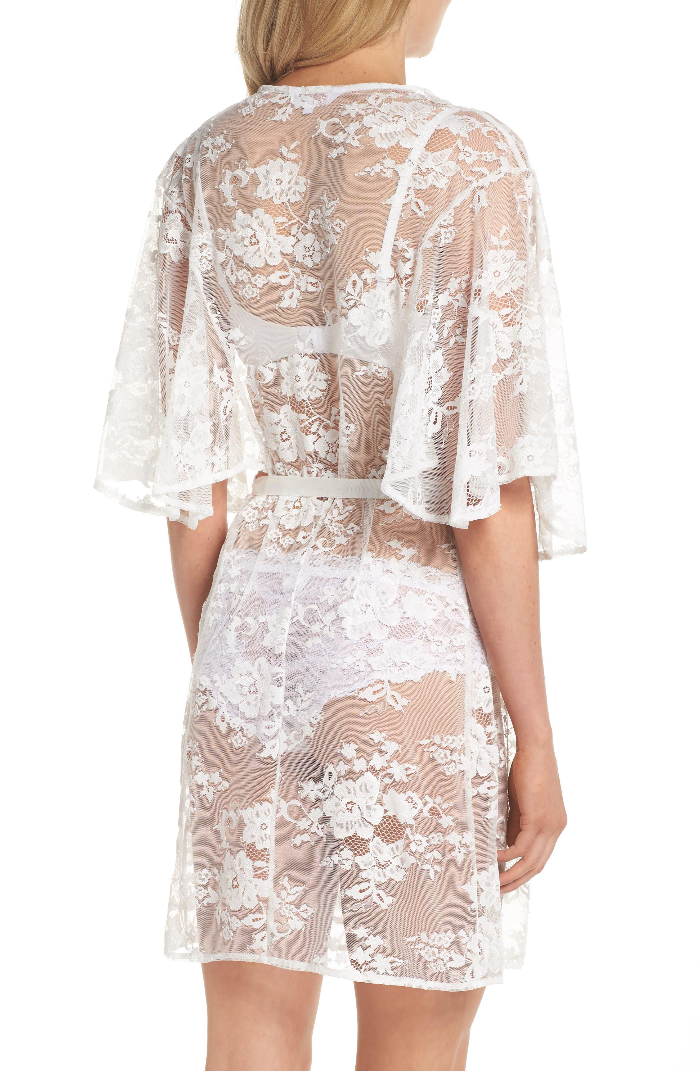 Kassiah Short Lace Wrap,                             Alternate thumbnail 2, color,                             White