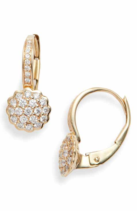 Dana Rebecca Lauren Joy Diamond Disc Drop Earrings
