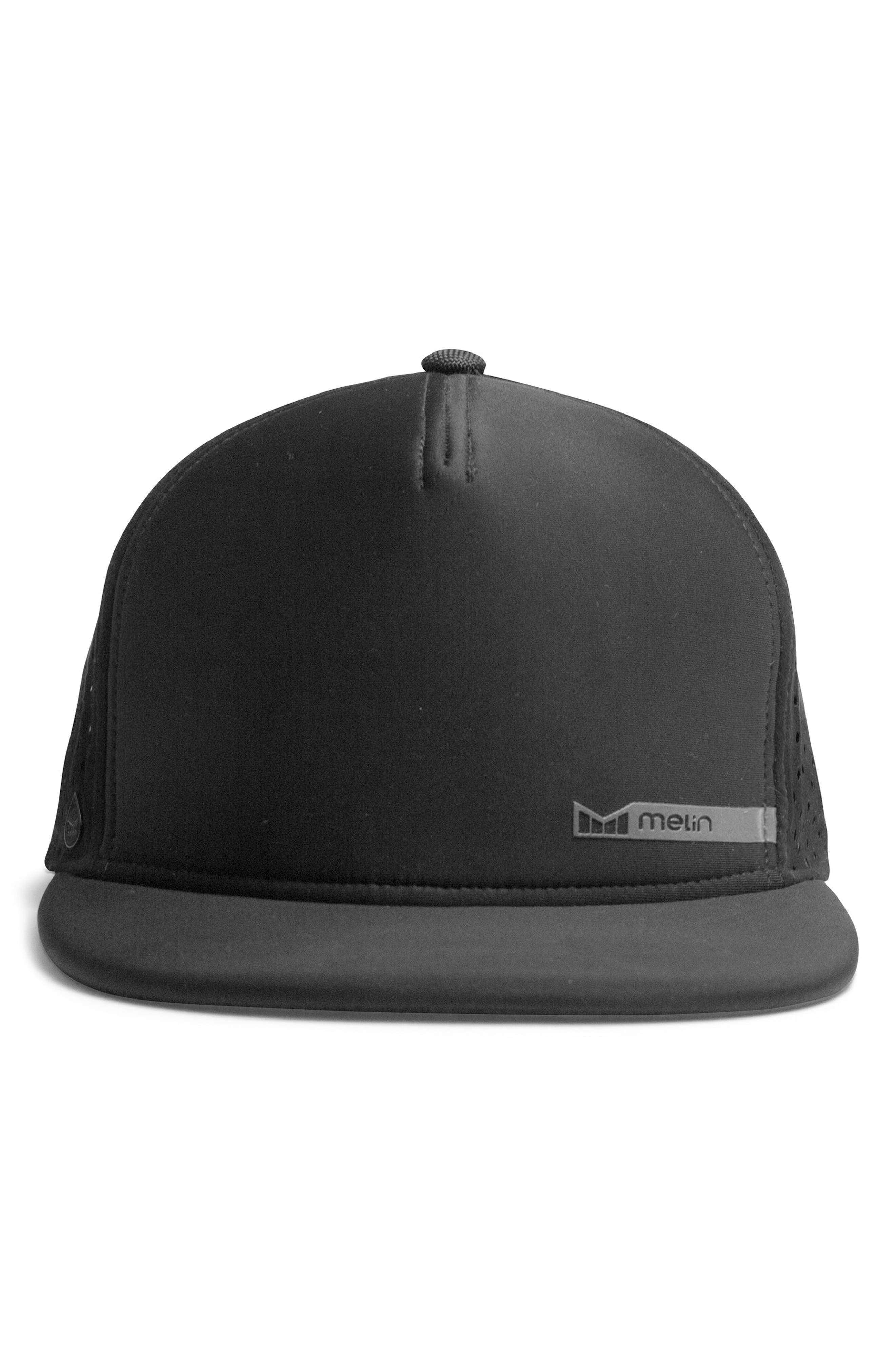 'Amphibian' Split Fit Snapback Baseball Cap,                             Alternate thumbnail 3, color,                             Black/ Black