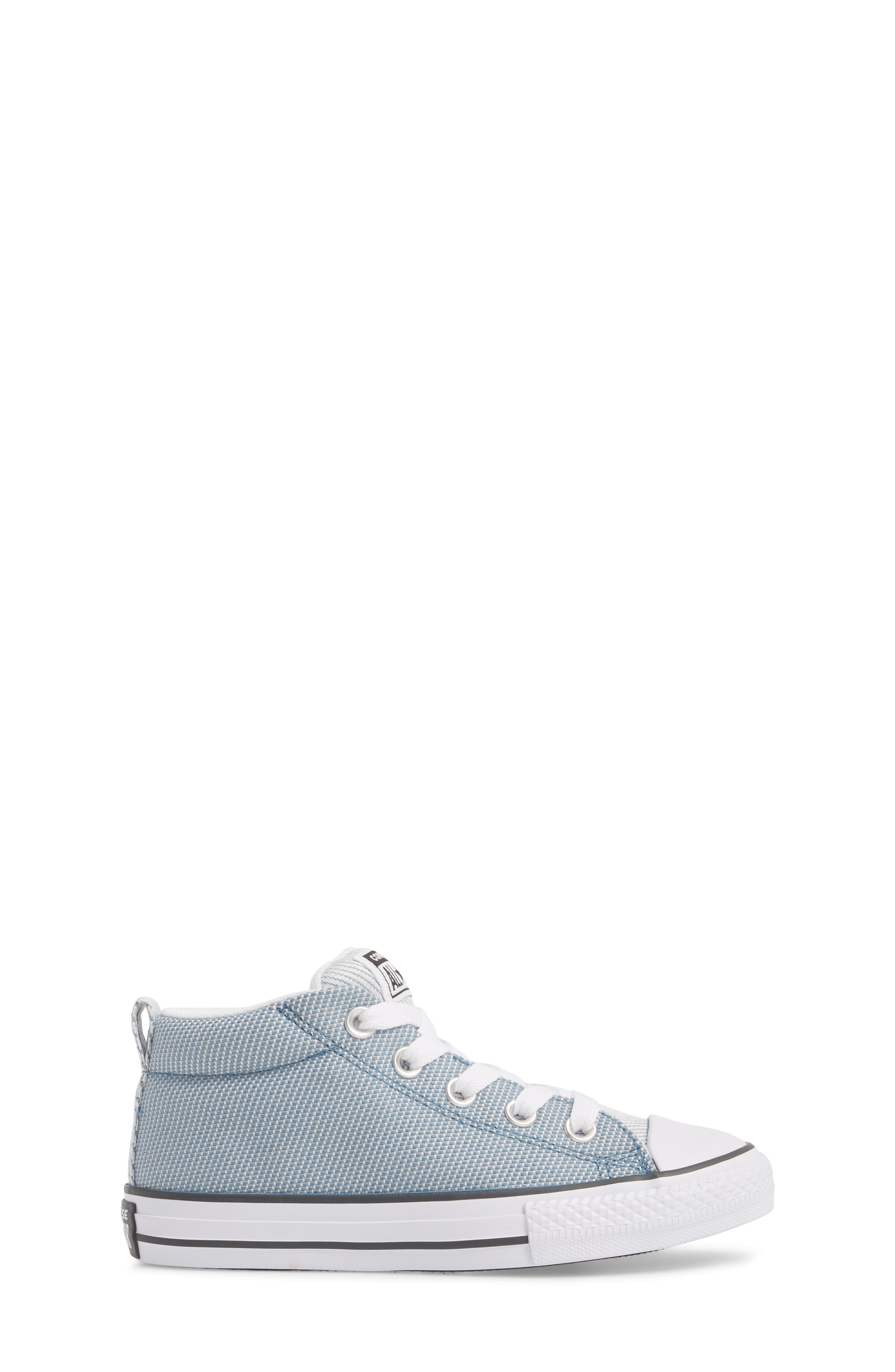 Chuck Taylor<sup>®</sup> All Star<sup>®</sup> Woven Street Mid Sneaker,                             Alternate thumbnail 3, color,                             Aegean Storm