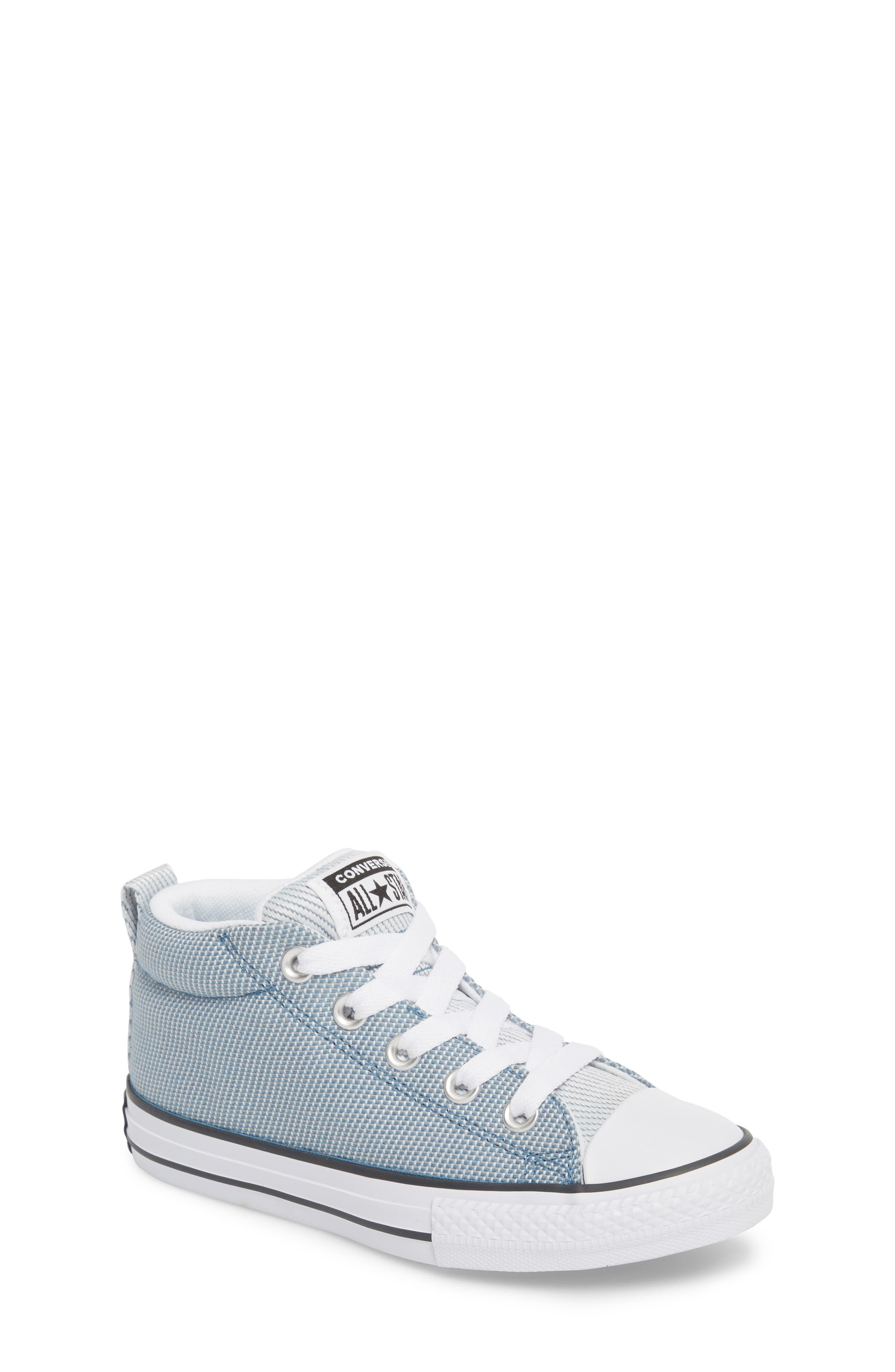 Chuck Taylor<sup>®</sup> All Star<sup>®</sup> Woven Street Mid Sneaker,                         Main,                         color, Aegean Storm