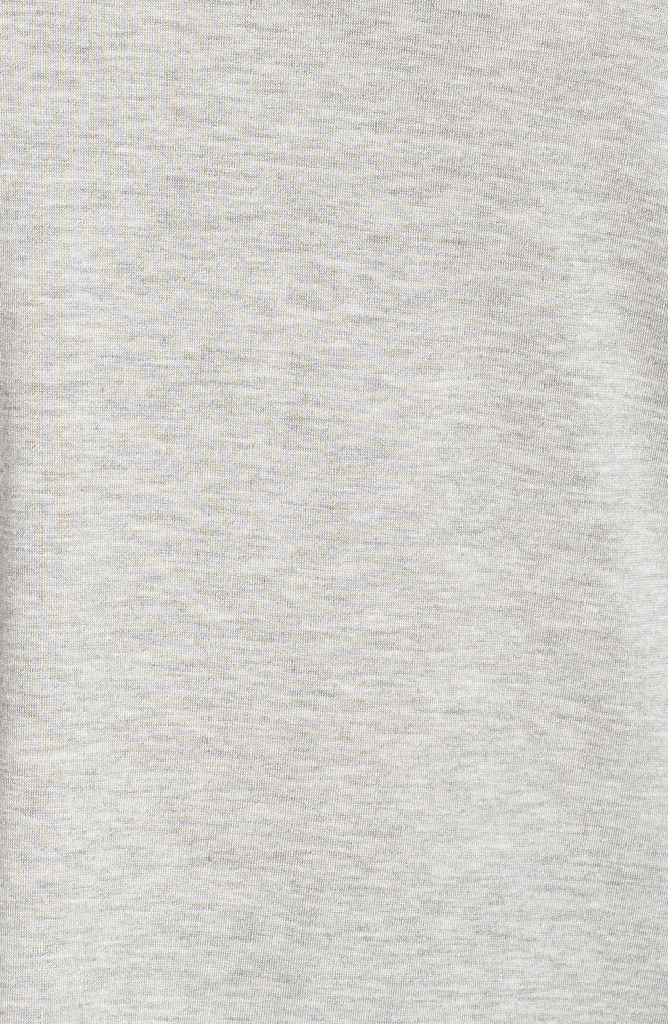 Off-Duty Stretch Knit Top,                             Alternate thumbnail 6, color,                             Grey Heather