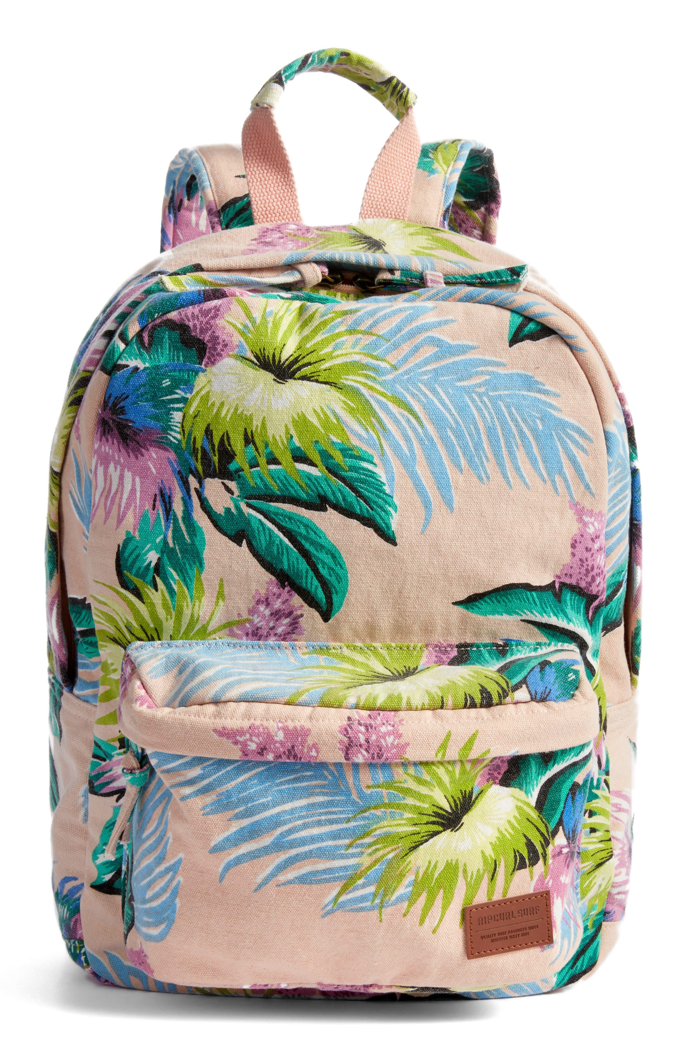 Ophelia Canvas Backpack,                             Main thumbnail 1, color,                             Vanilla